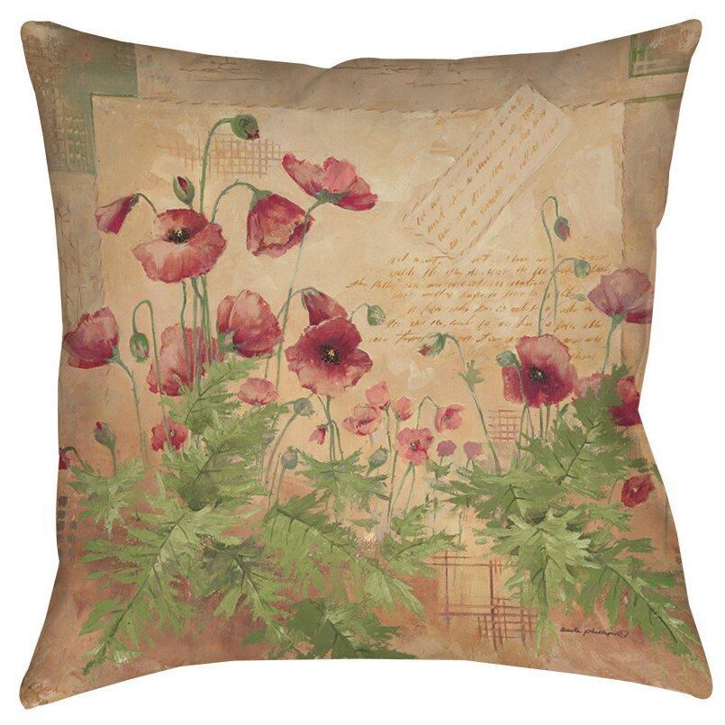 Manual Woodworkers & Weavers Floral 1 Indoor/Outdoor Throw Pillow & Reviews Wayfair.ca