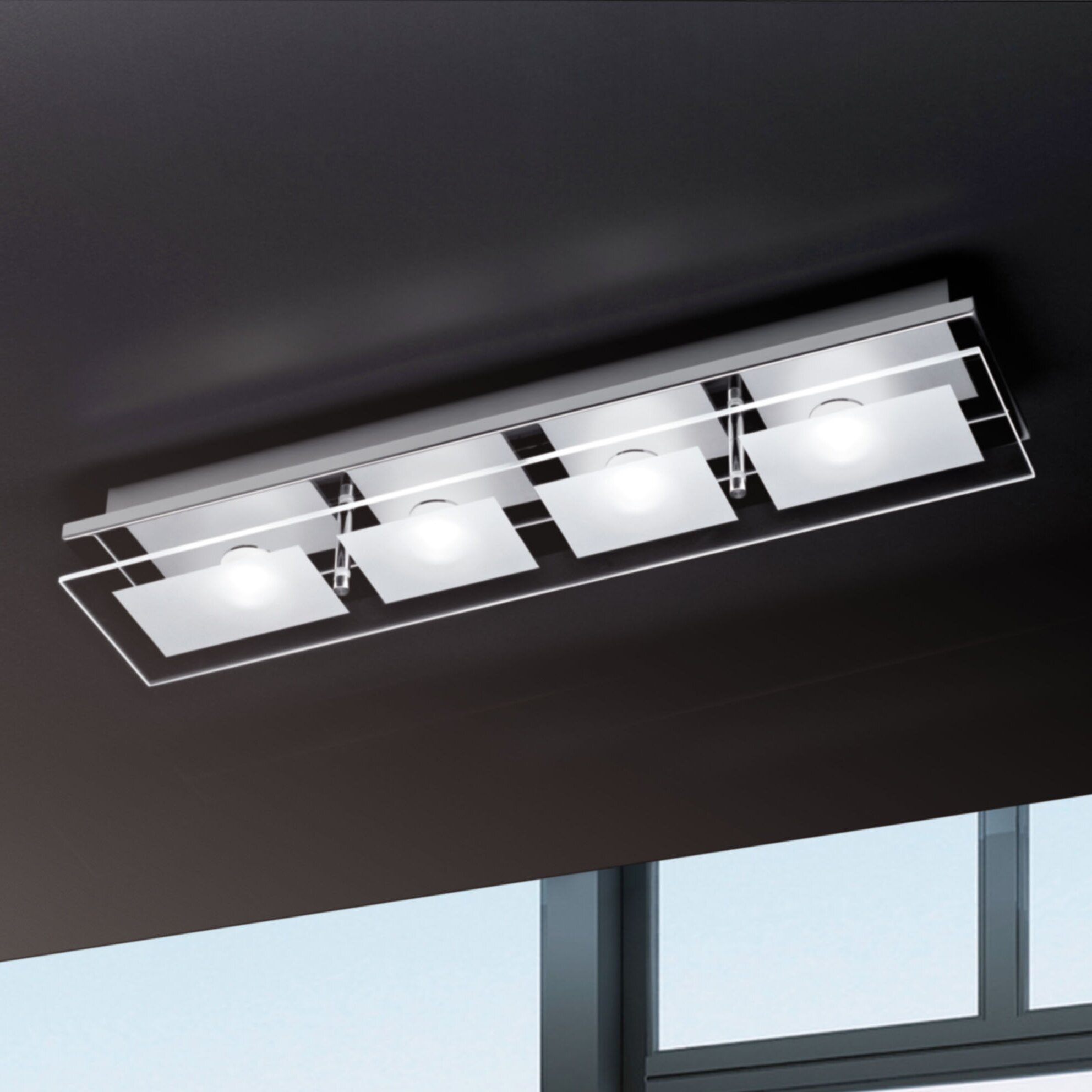 paul neuhaus chiron 4 light flush semi flush mount reviews wayfair uk. Black Bedroom Furniture Sets. Home Design Ideas