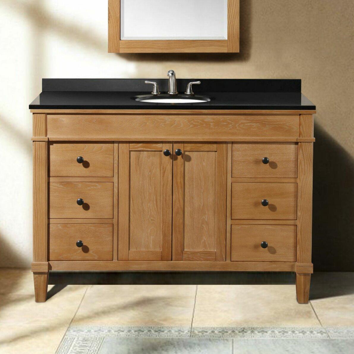 Legion furniture 49 single bathroom vanity set reviews for Bathroom furniture sets