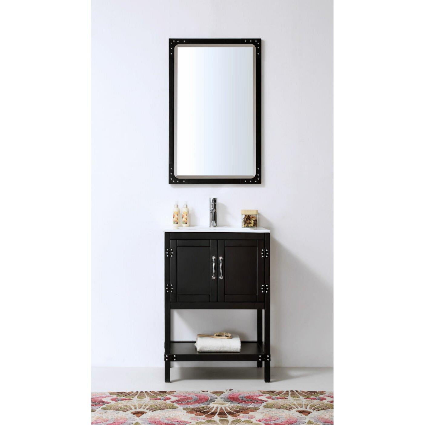 Legion furniture 24 bathroom vanity set reviews wayfair for Bathroom furniture sets