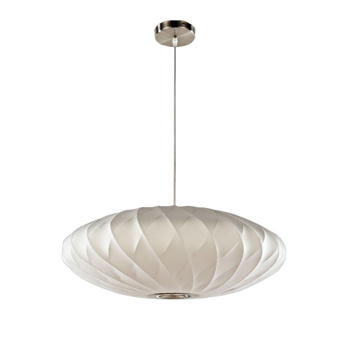 Legion Furniture 1 Light Oval Pendant Amp Reviews Wayfair
