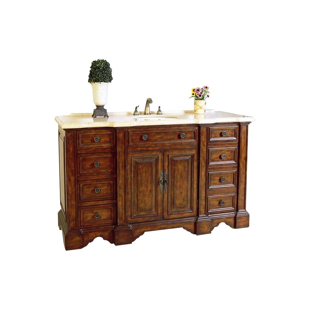"Legion Furniture 58"" Single Chest Bathroom Vanity Set & Reviews"