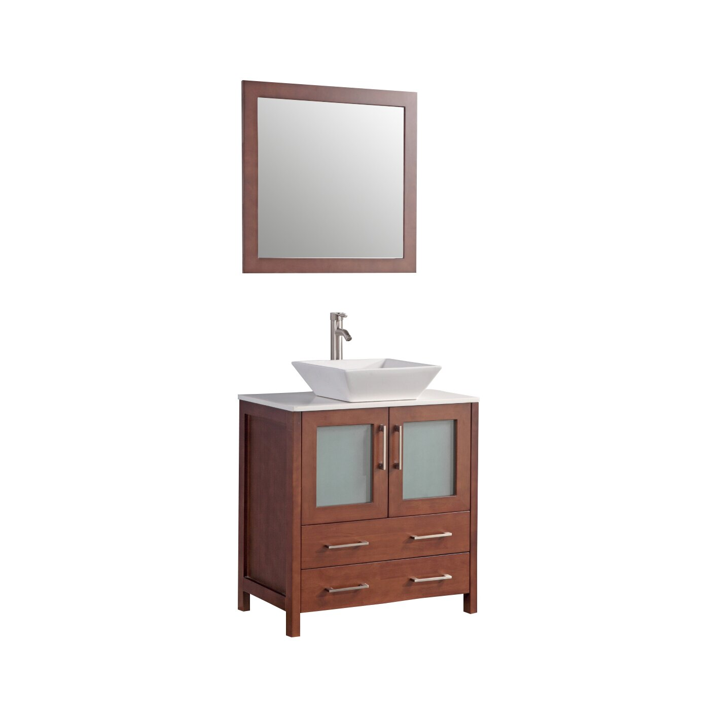 Legion furniture 30 single bathroom vanity set with for Legion furniture 30 inch bathroom vanity