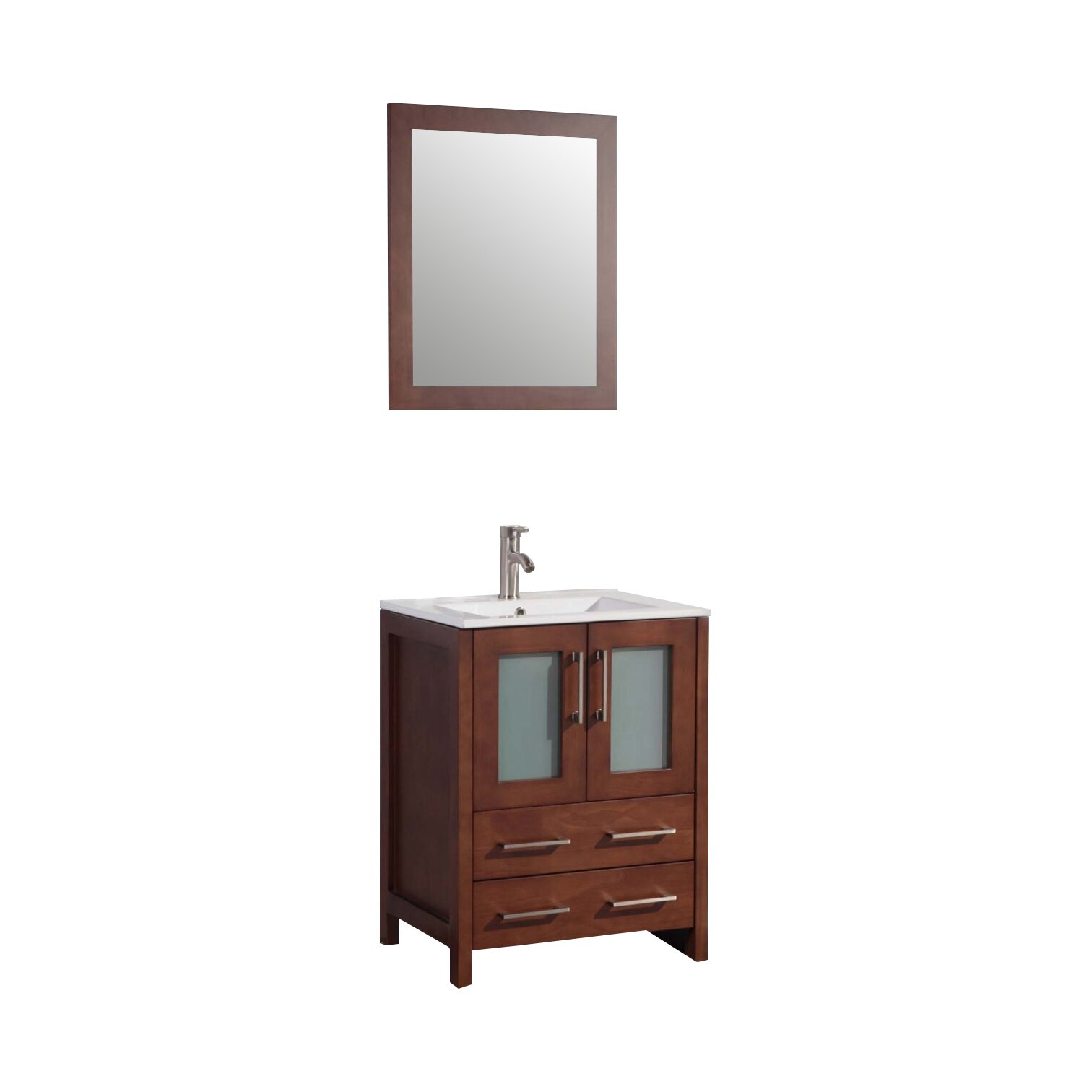 "Legion Furniture 24"" Single Bathroom Vanity Set with Mirror & Review"