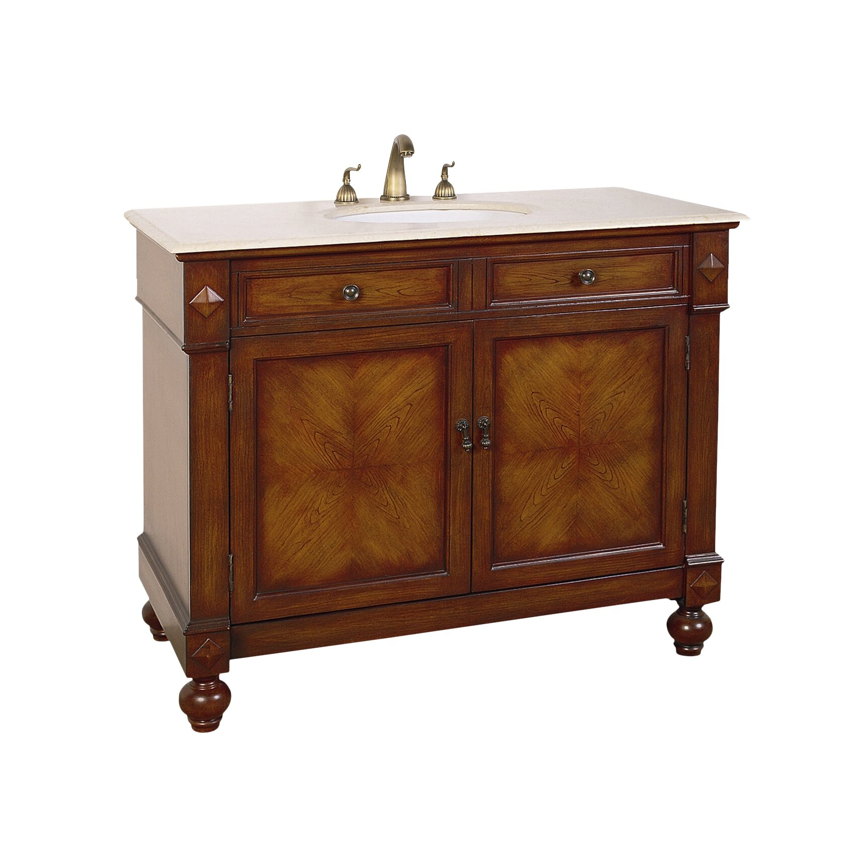 "Legion Furniture Hatherleigh 42"" Single Chest Bathroom Vanity Set &"