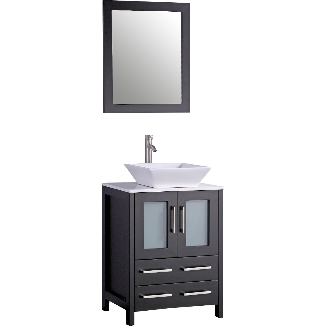 Legion furniture 24 single bathroom vanity set with for Furniture 24