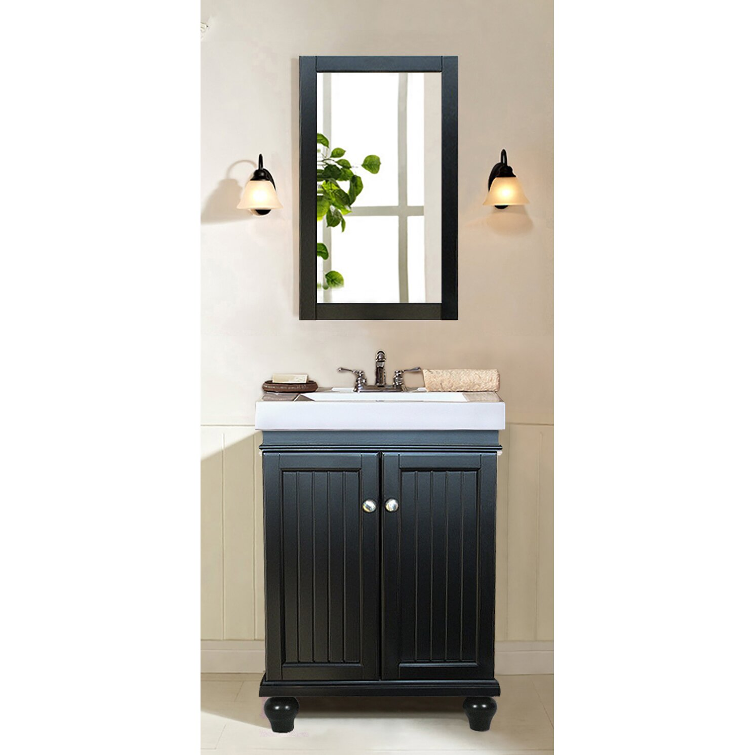 legion furniture 24 single bathroom vanity set reviews wayfair. Black Bedroom Furniture Sets. Home Design Ideas