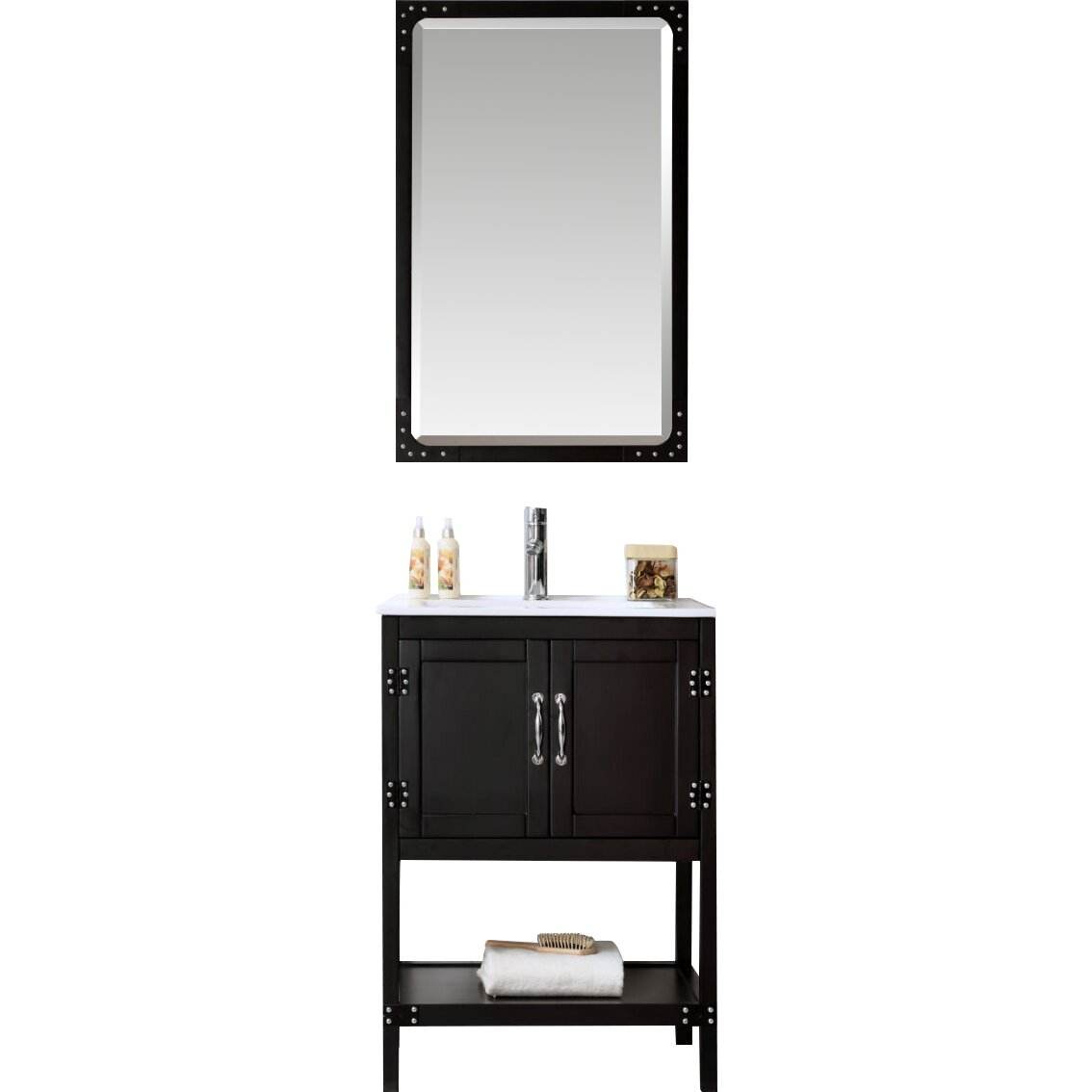 "Legion Furniture 24"" Bathroom Vanity Set & Reviews"