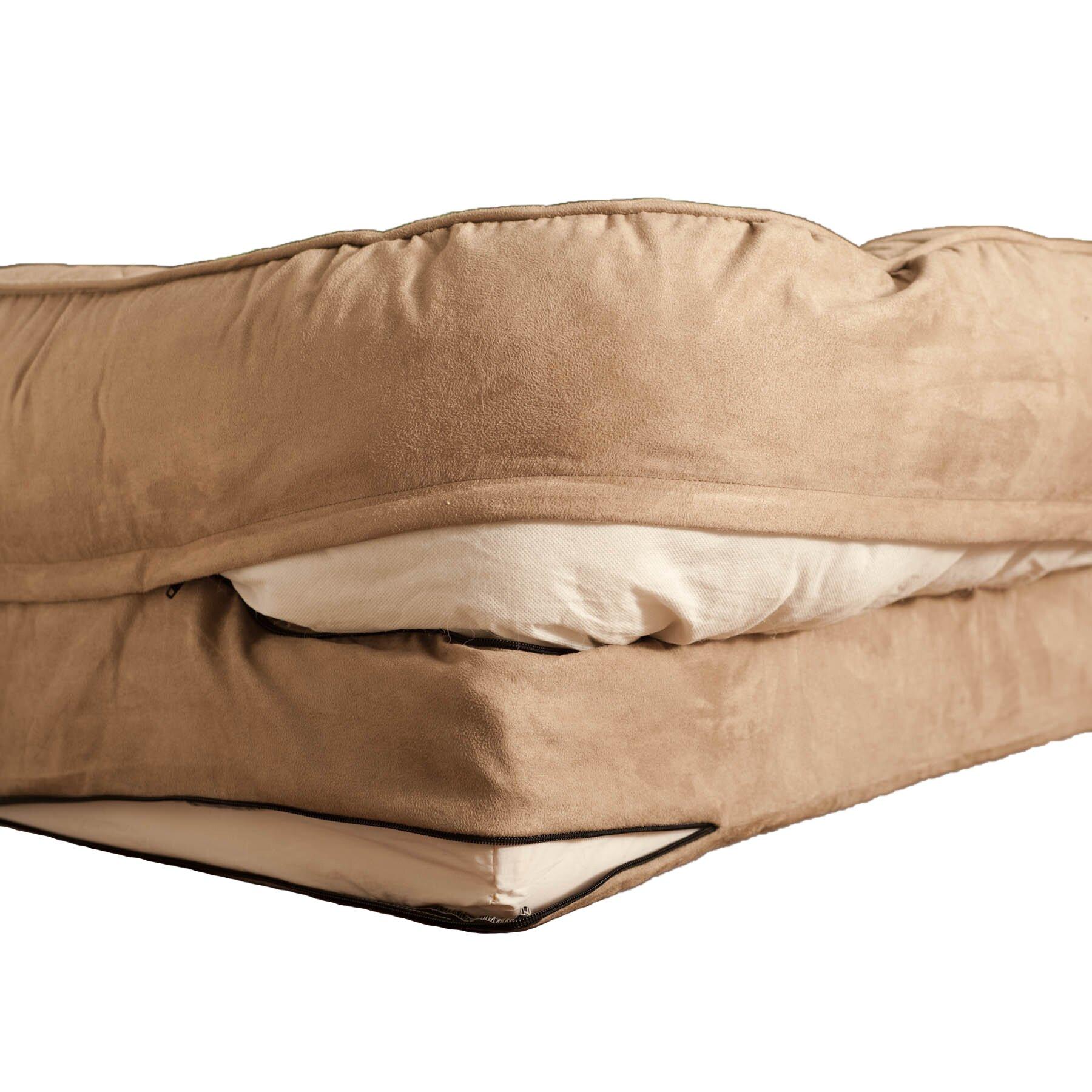buddy beds memory foam bolster dog bed wayfair. Black Bedroom Furniture Sets. Home Design Ideas