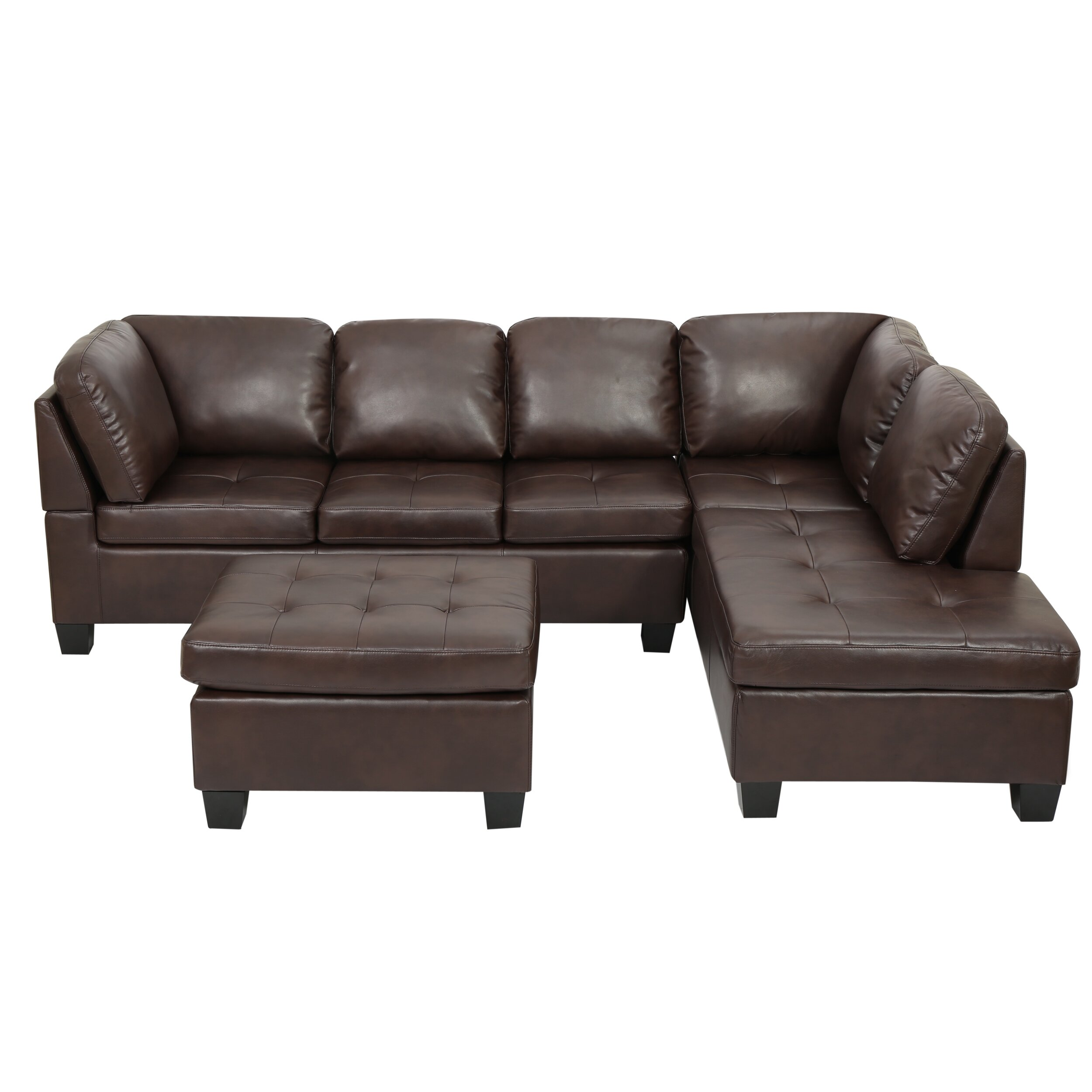 Home loft concepts evan sectional reviews wayfair for Wayfair furniture sectional sofa