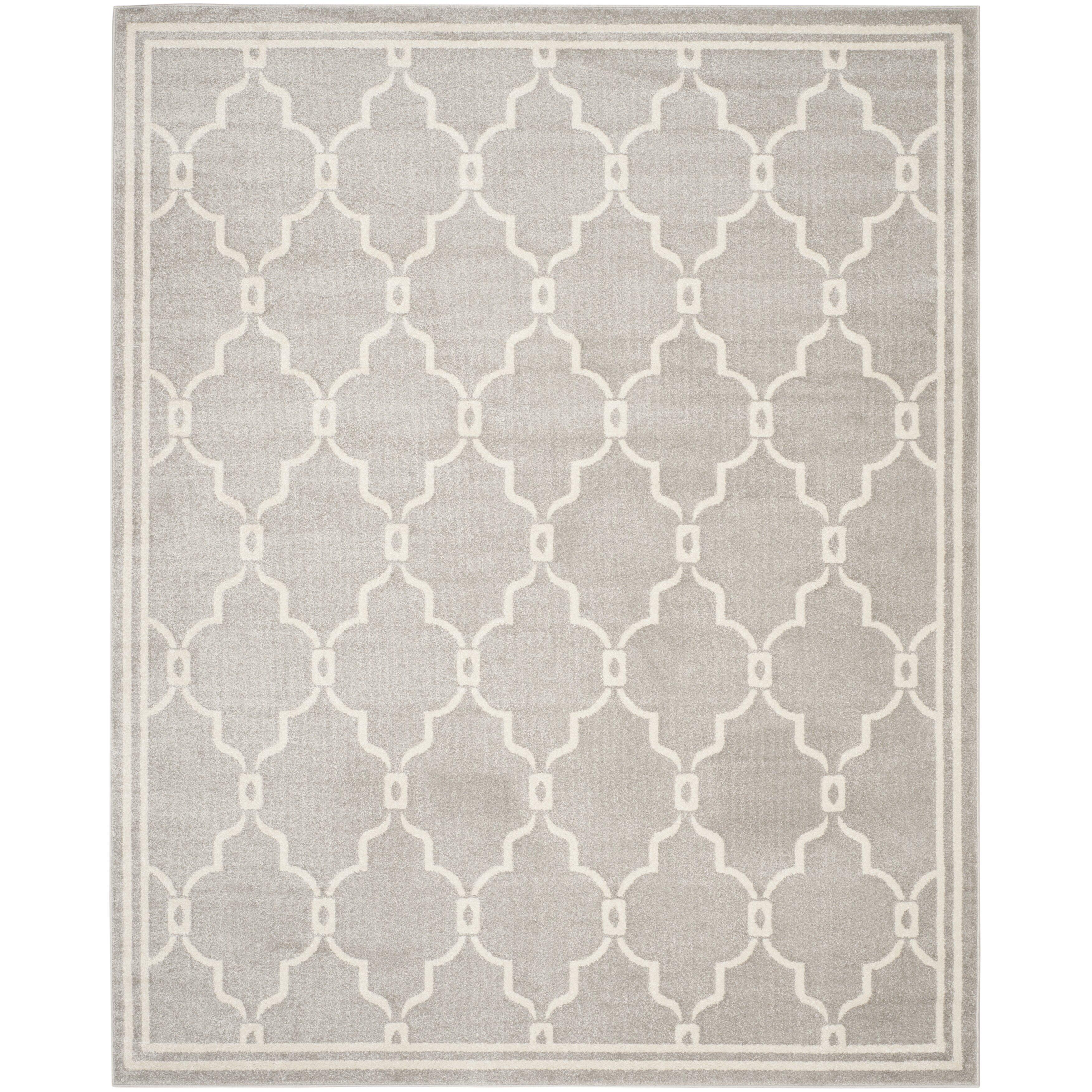 Safavieh emerson light grey indoor outdoor area rug for Indoor outdoor rugs uk