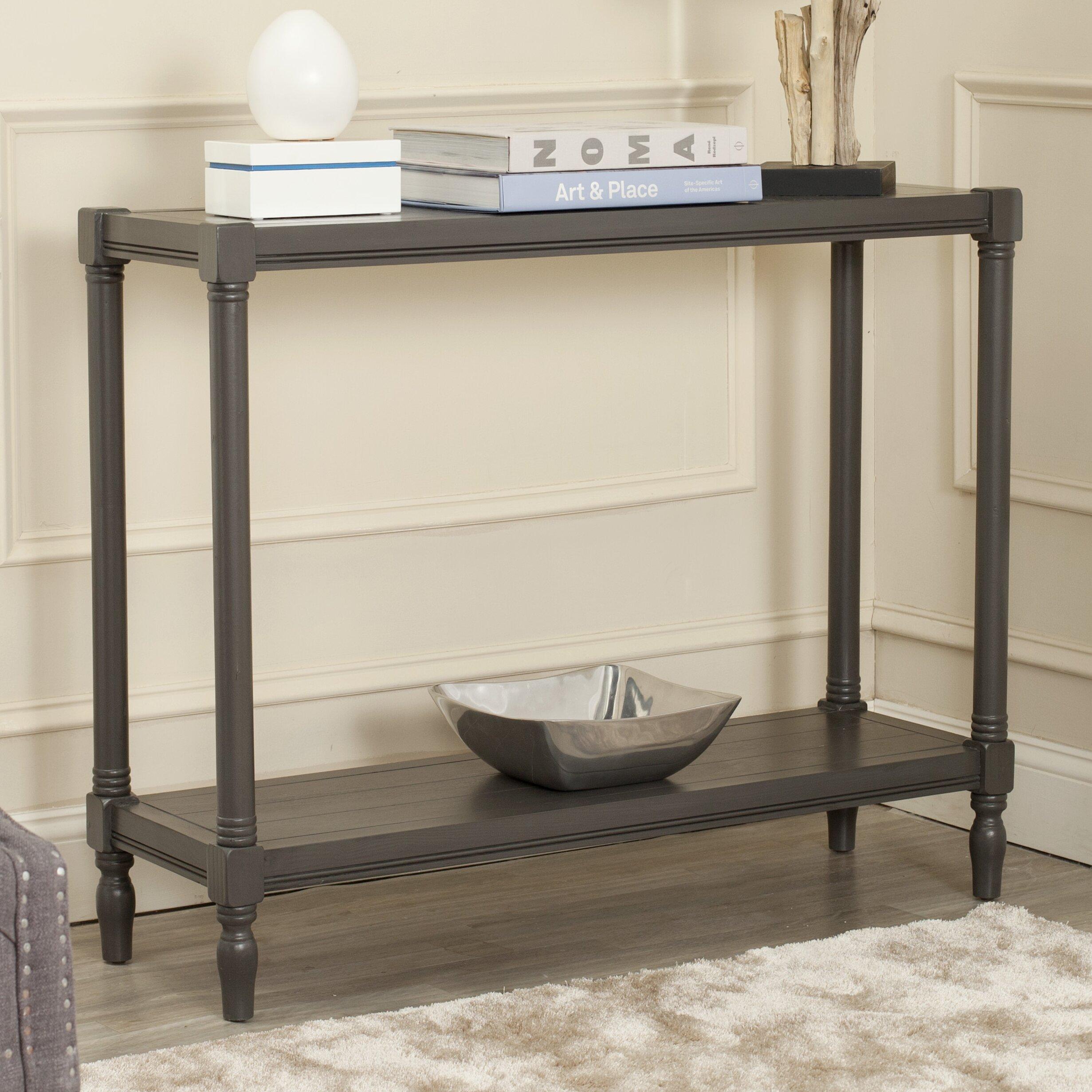 safavieh denton console table reviews wayfair uk. Black Bedroom Furniture Sets. Home Design Ideas