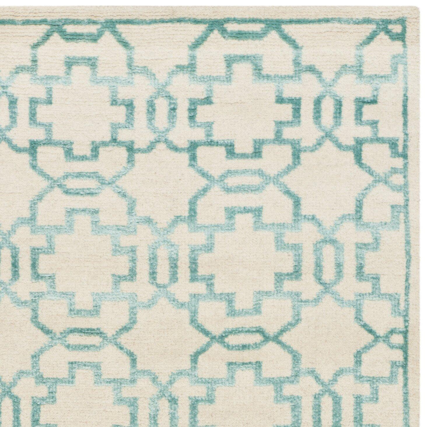 Safavieh Handgeknüpfter Teppich in CremeAquamarin von