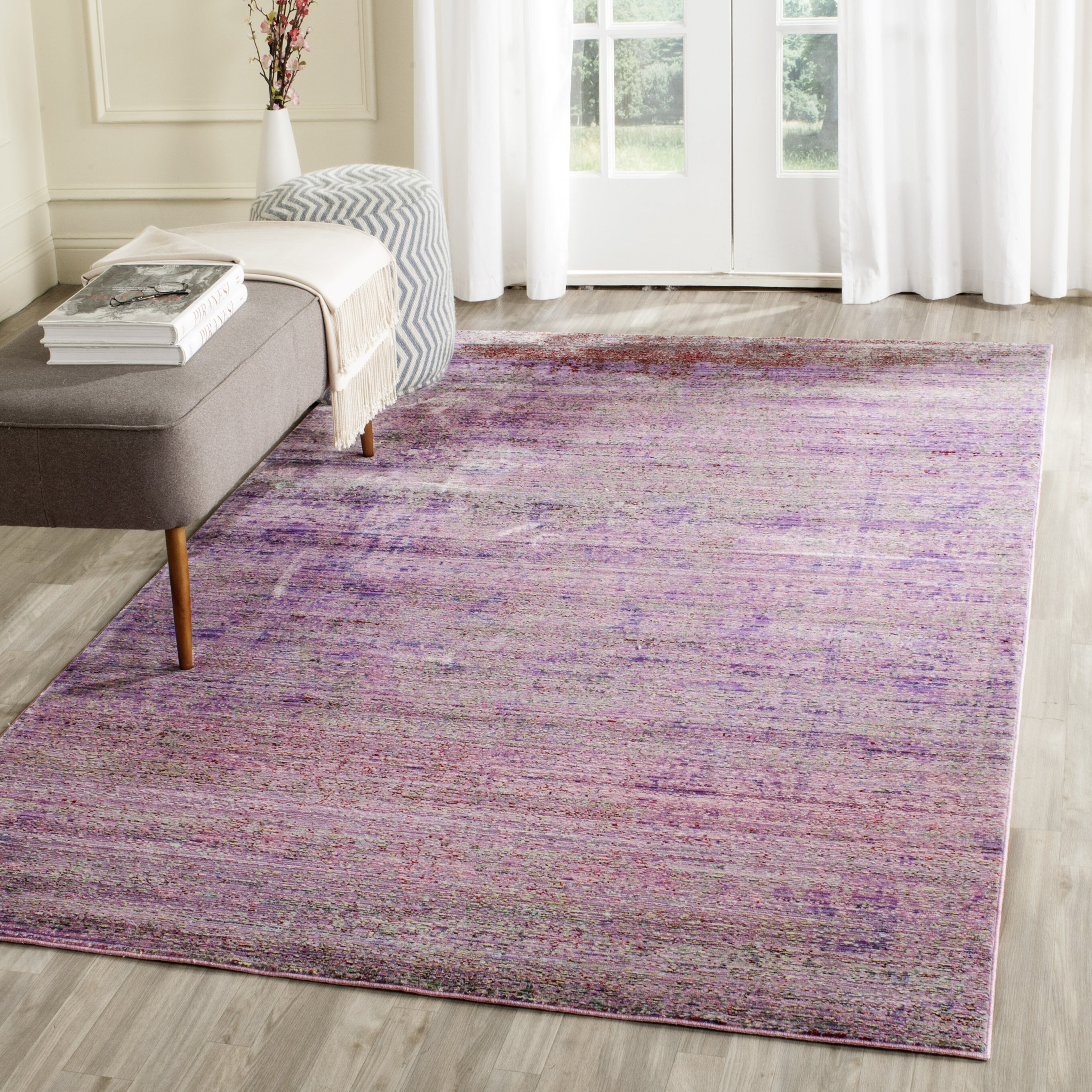 Purple Rug: Safavieh Bedford Purple Area Rug & Reviews