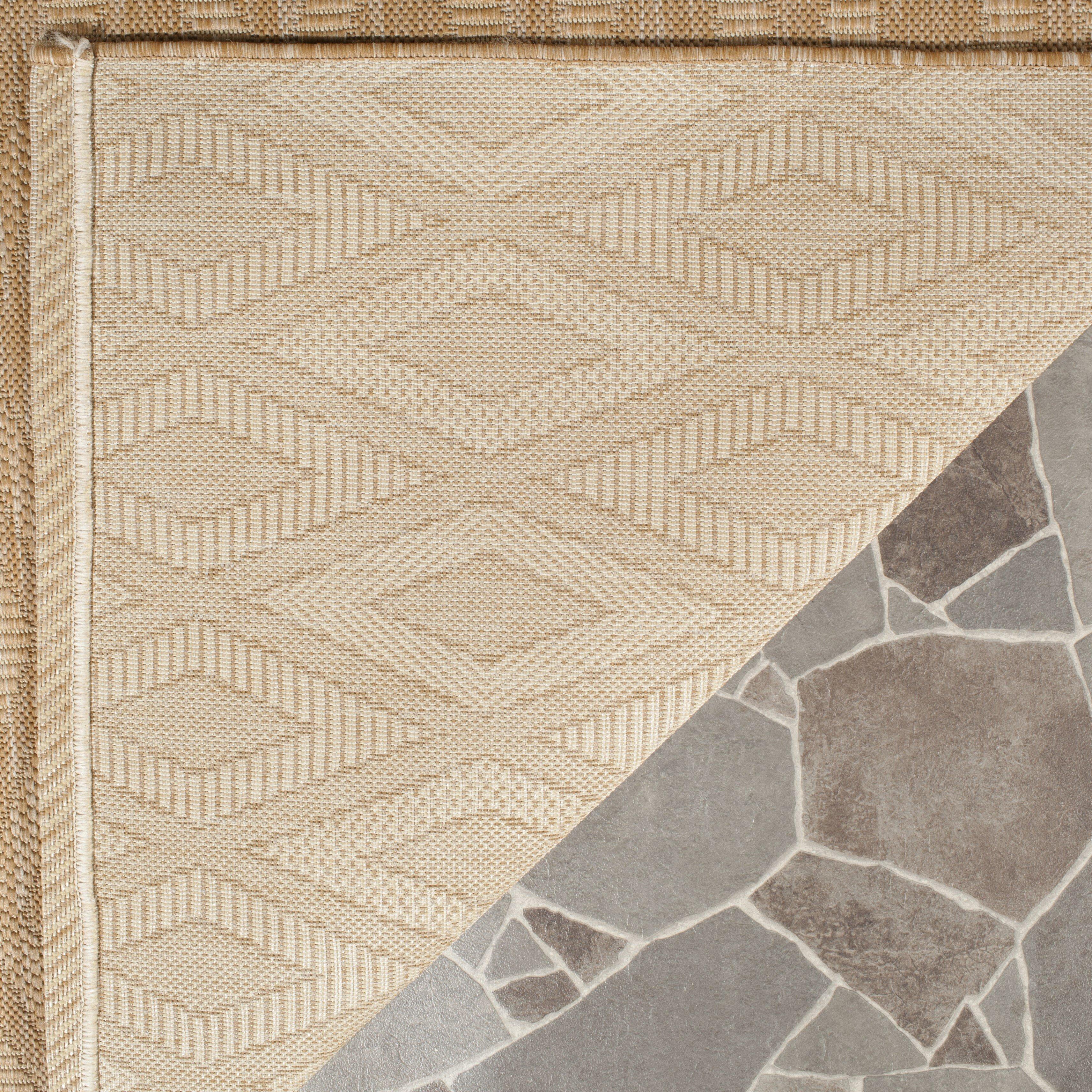 Safavieh biarritz natural indoor outdoor area rug for Indoor outdoor rugs uk
