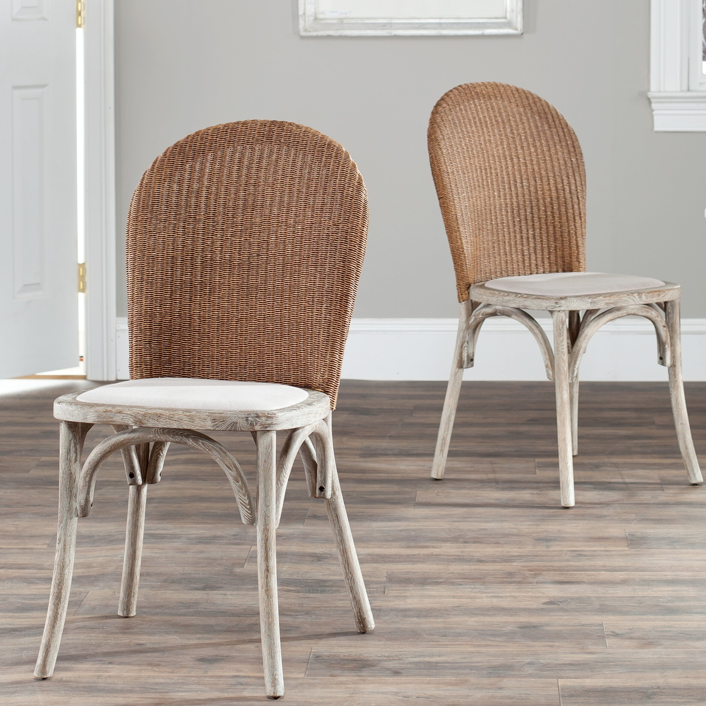 safavieh solid oak upholstered dining chair wayfair uk. Black Bedroom Furniture Sets. Home Design Ideas
