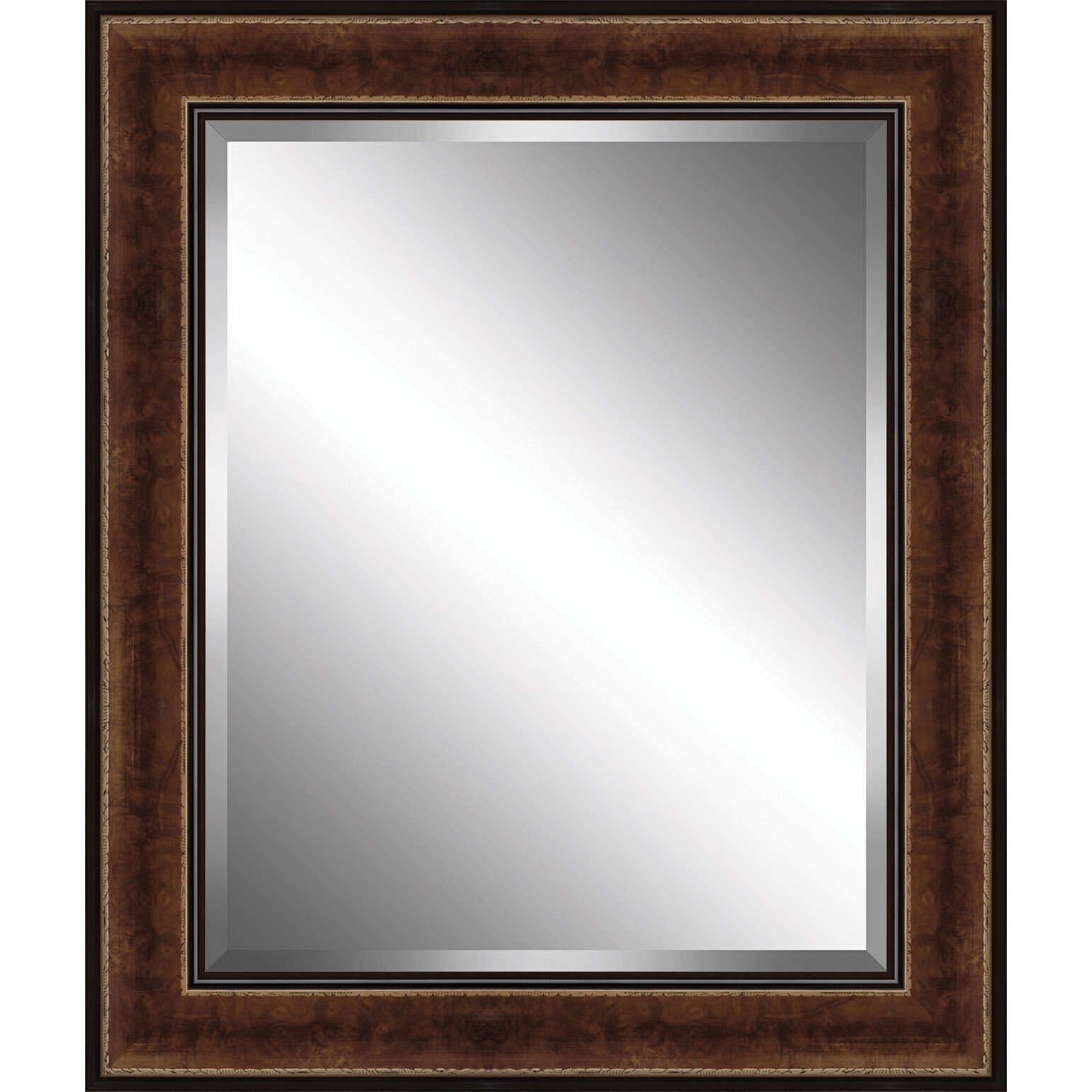 Wall Art In Mirror Frame : Ashton wall d?cor llc traditional wood framed beveled