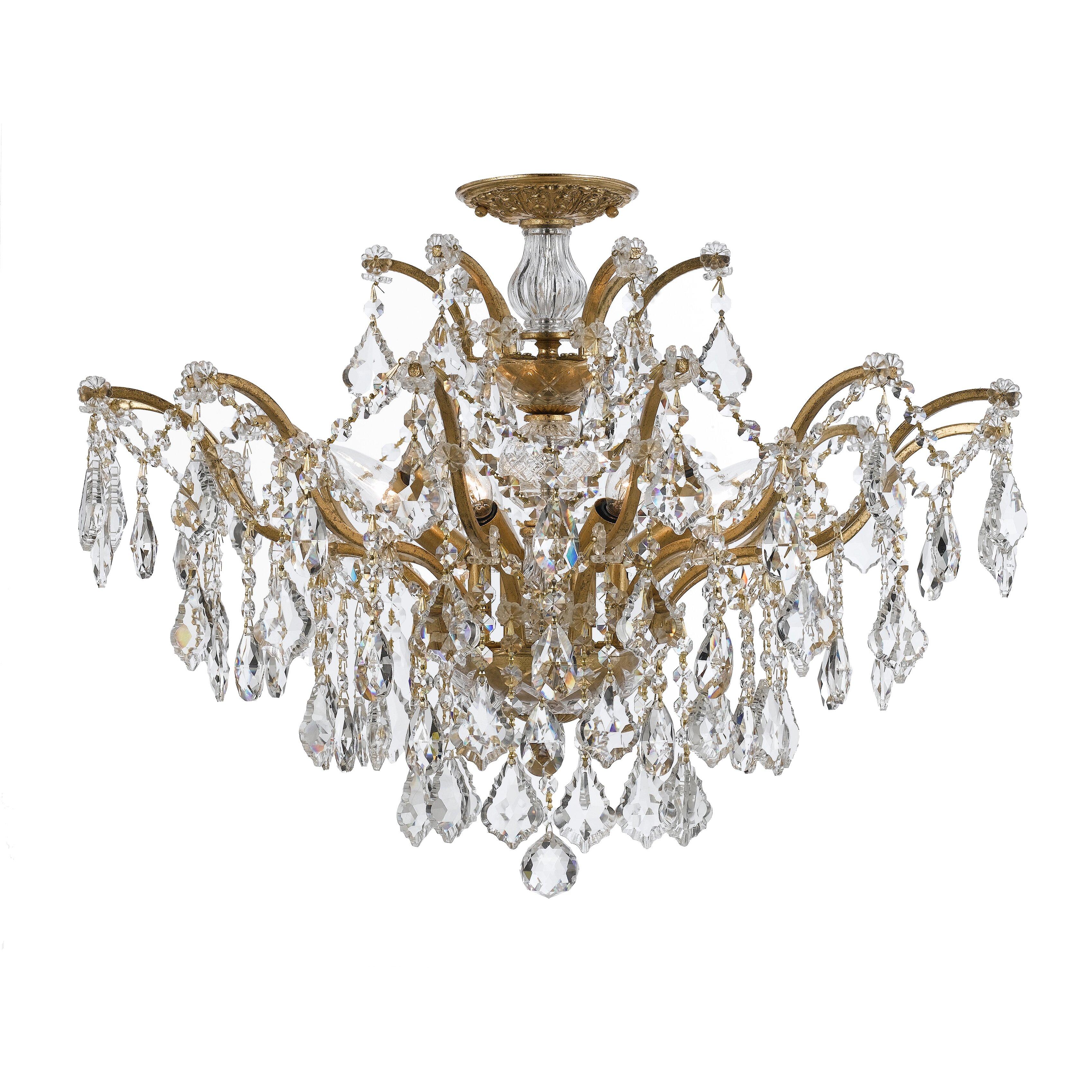 Crystorama filmore 6 light crystal chandelier reviews for 6 light crystal chandelier