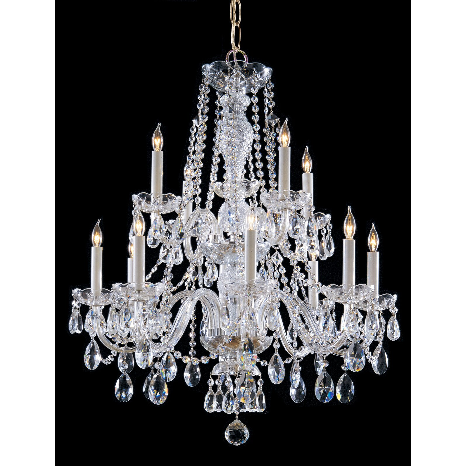 Crystorama traditional crystal 12 light crystal chandelier reviews wayfair - Traditional crystal chandeliers ...