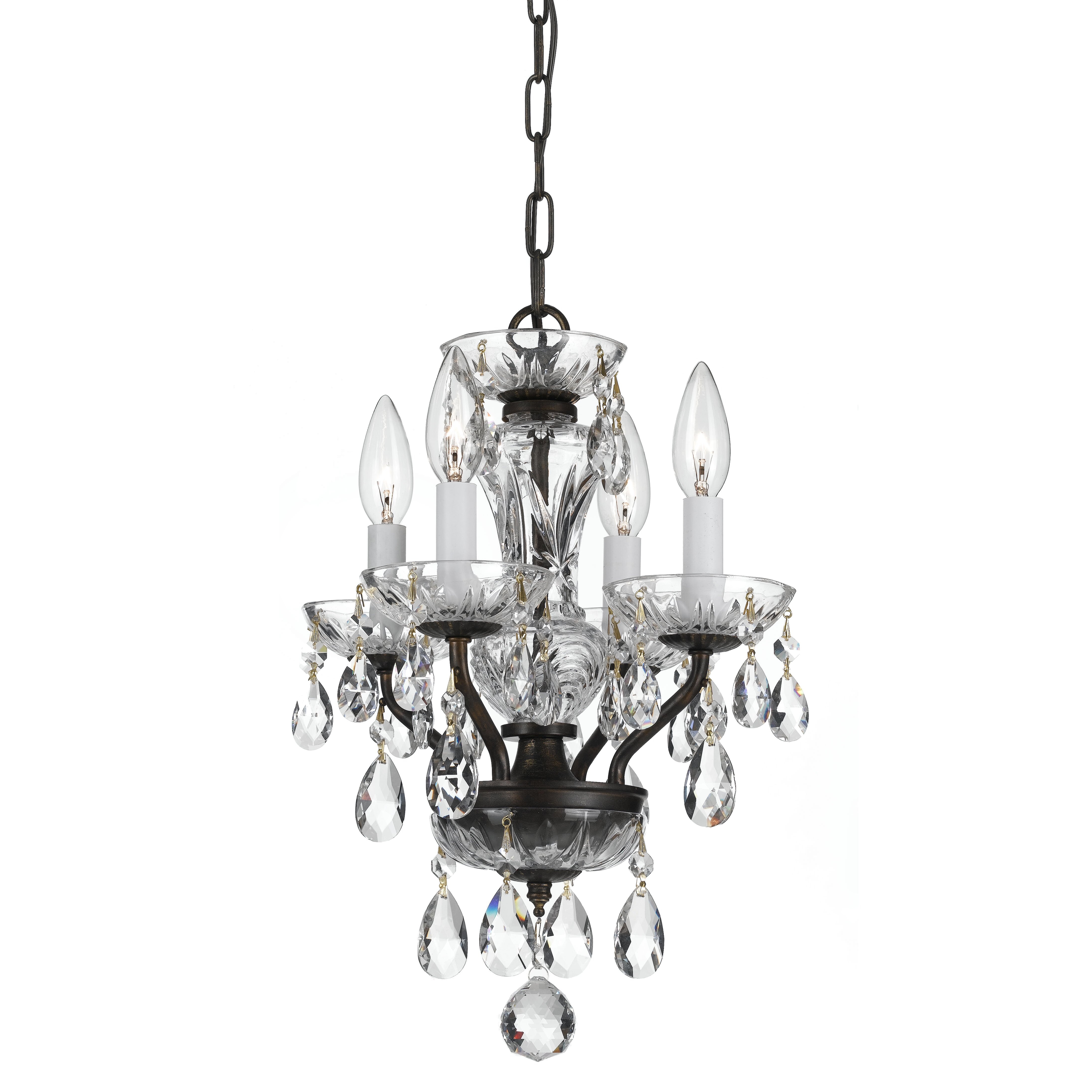 Crystorama traditional crystal 4 light candle chandelier Crystal candle chandelier