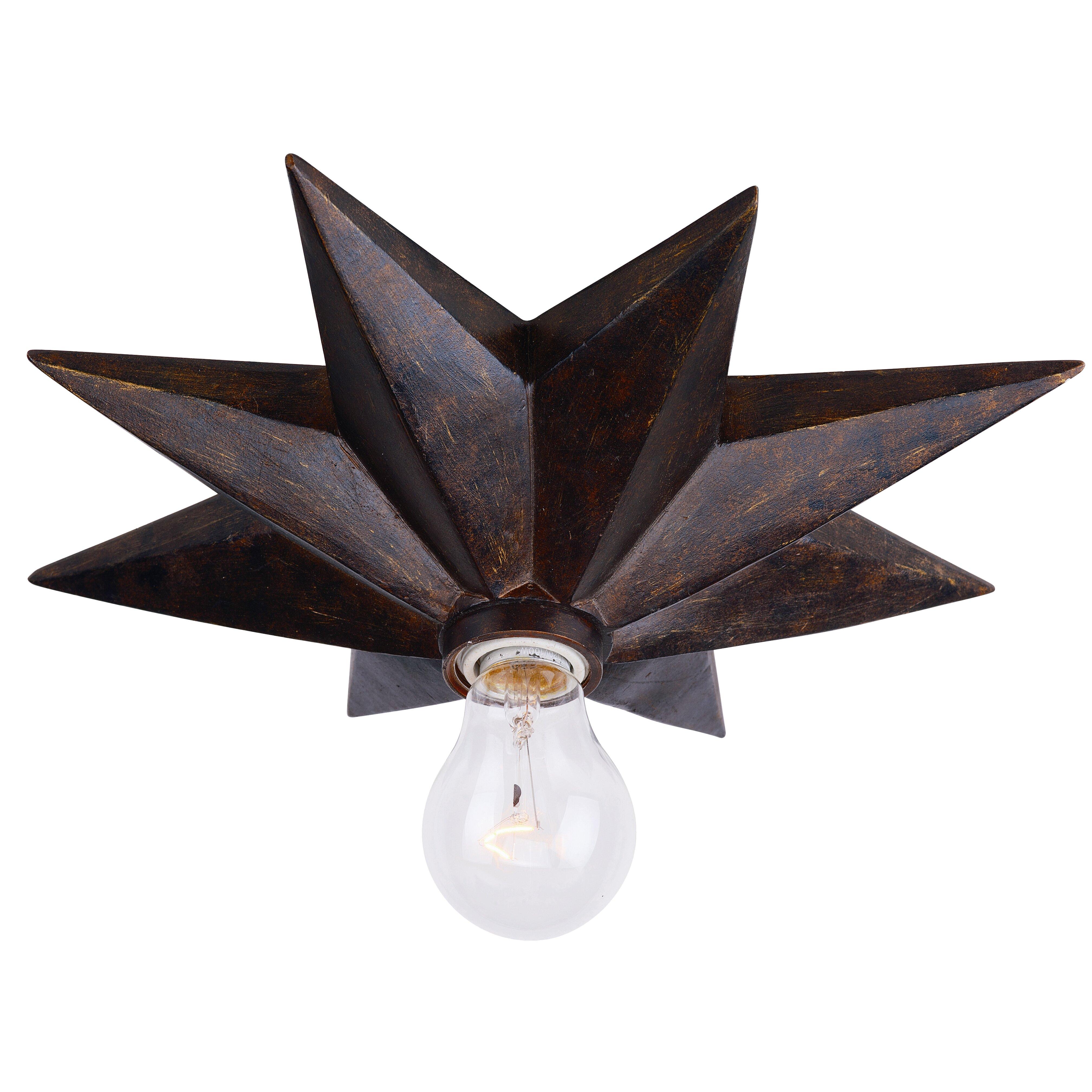 Crystorama astro light semi flush mount reviews wayfair