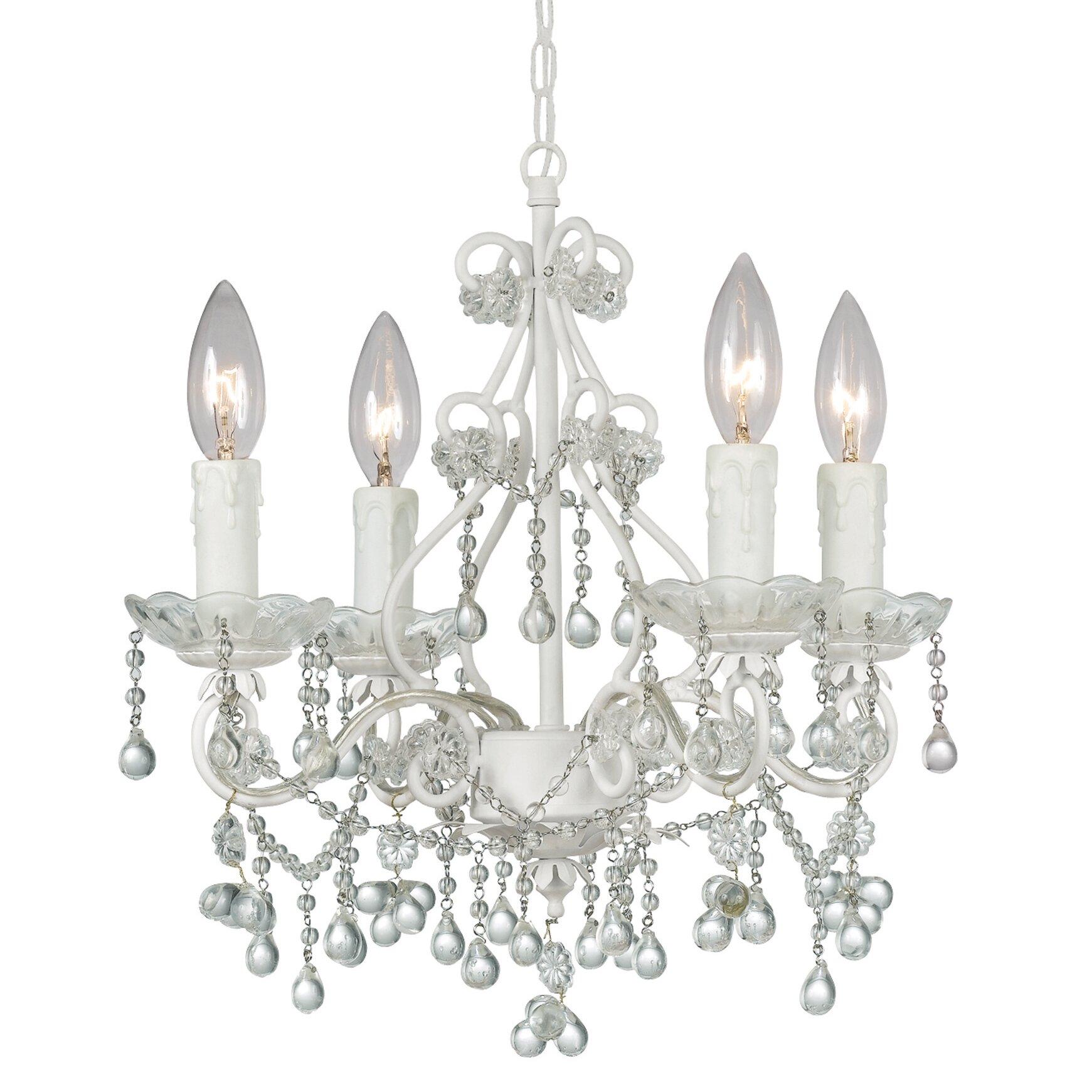 crystorama paris flea market 4 light crystal chandelier