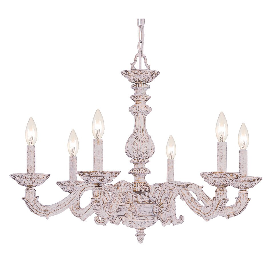 Crystorama Sutton 6 Light Candle Chandelier & Reviews
