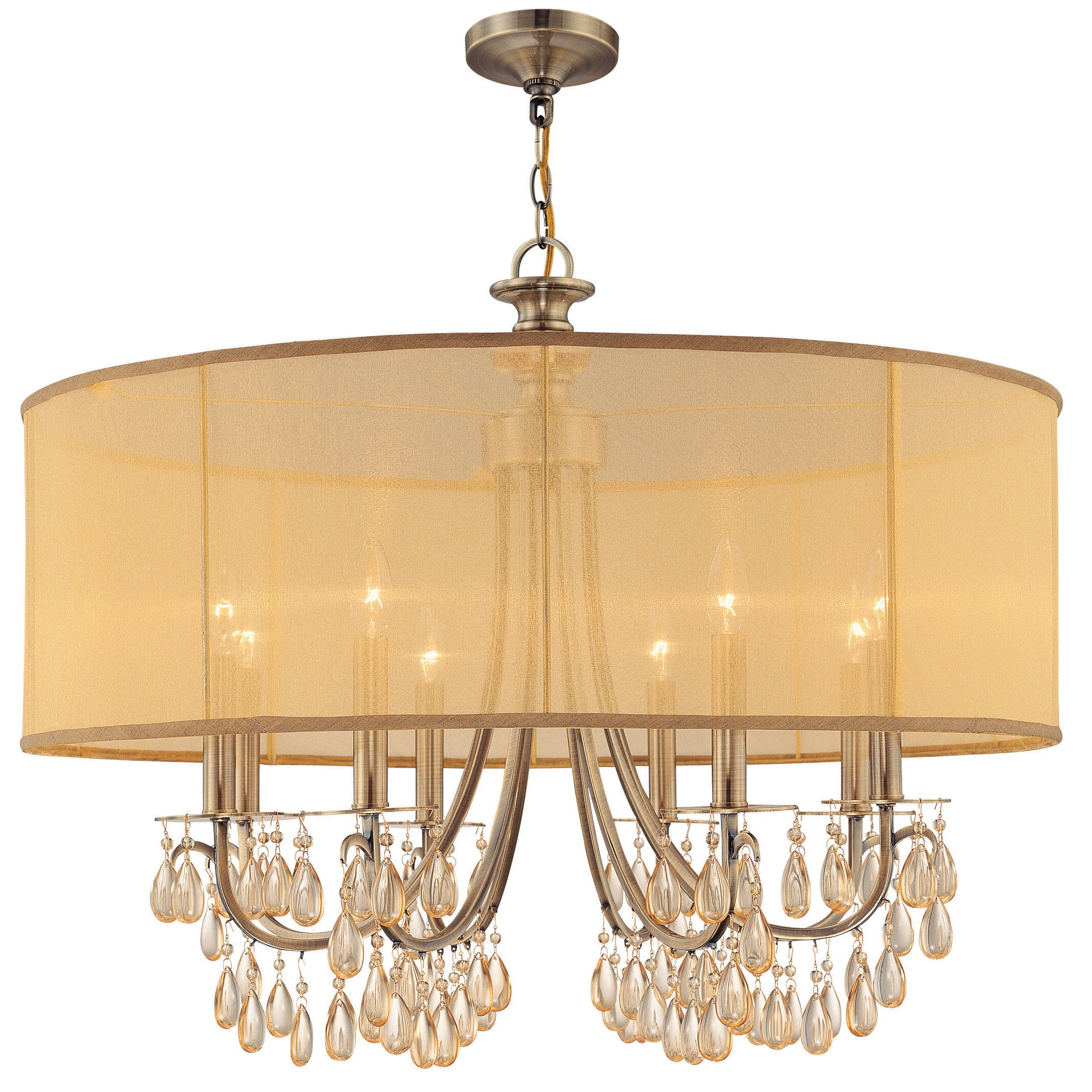 Wayfair Lights: Crystorama Hampton 8 Light Chandelier & Reviews
