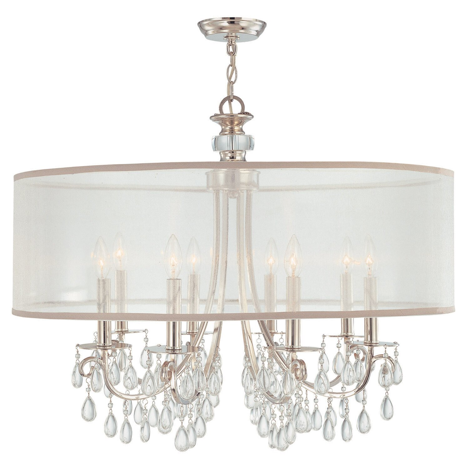 crystorama hampton 8 light chandelier reviews wayfair. Black Bedroom Furniture Sets. Home Design Ideas