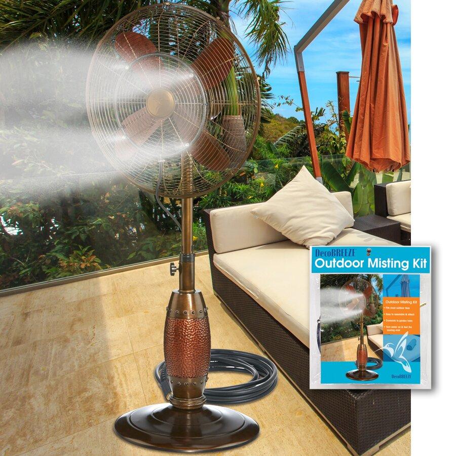 Deco Breeze Replacement Parts : Deco breeze misting kit floor fan reviews wayfair