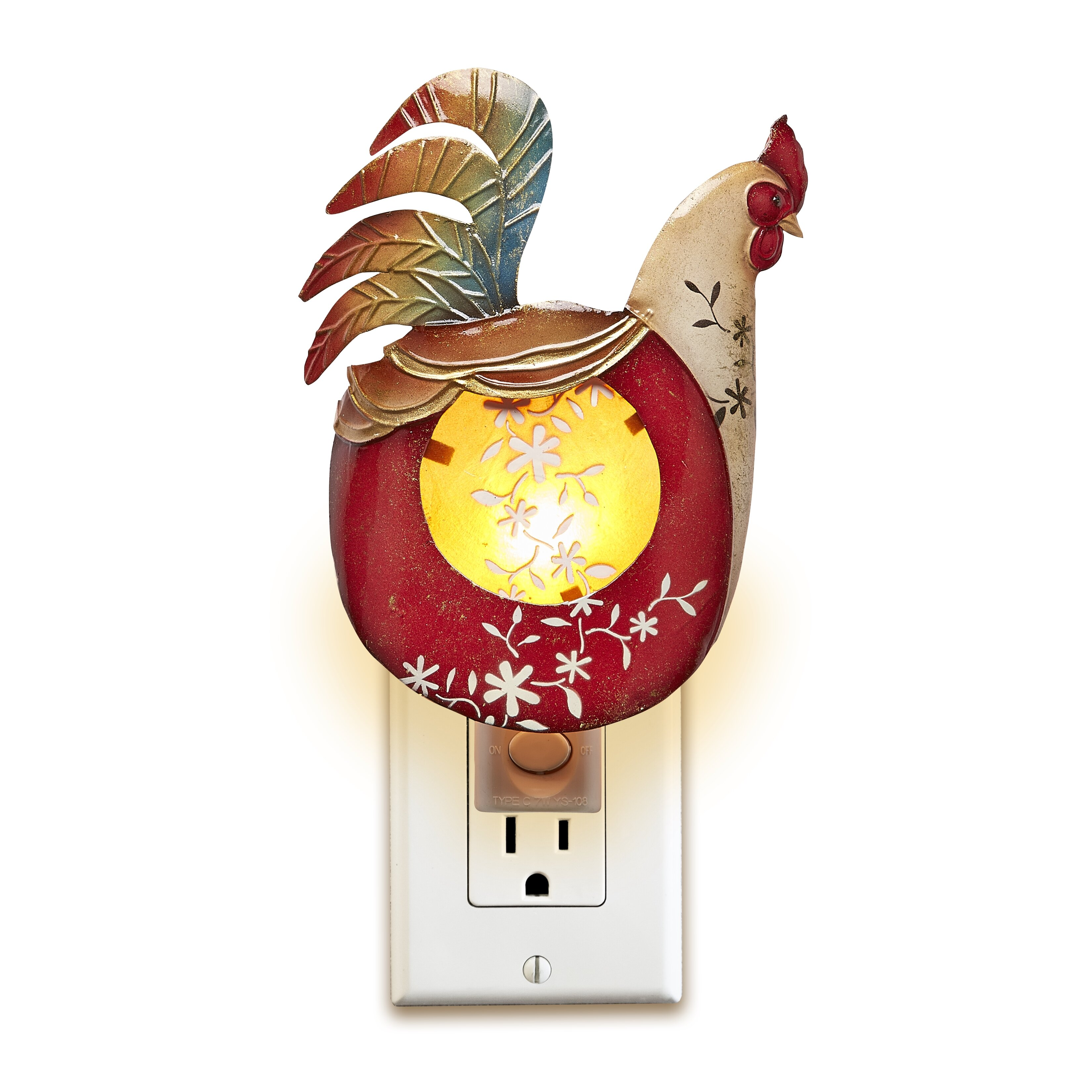 decorative night lights deco decor rooster light amp reviews wayfair 30300
