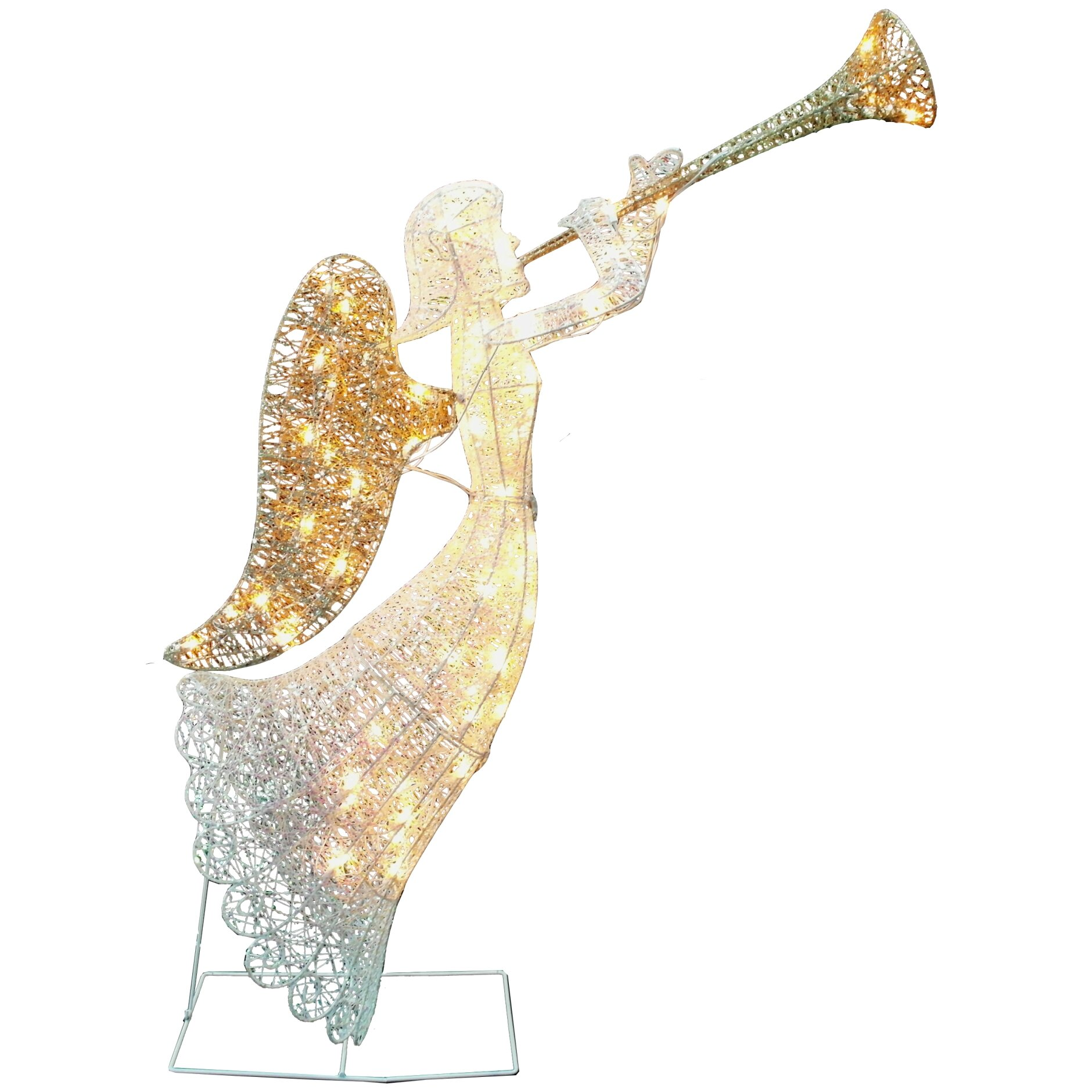 Dyno seasonal solutions animated elegant glittering angel christmas decoration reviews wayfair for Angel of the north christmas decoration