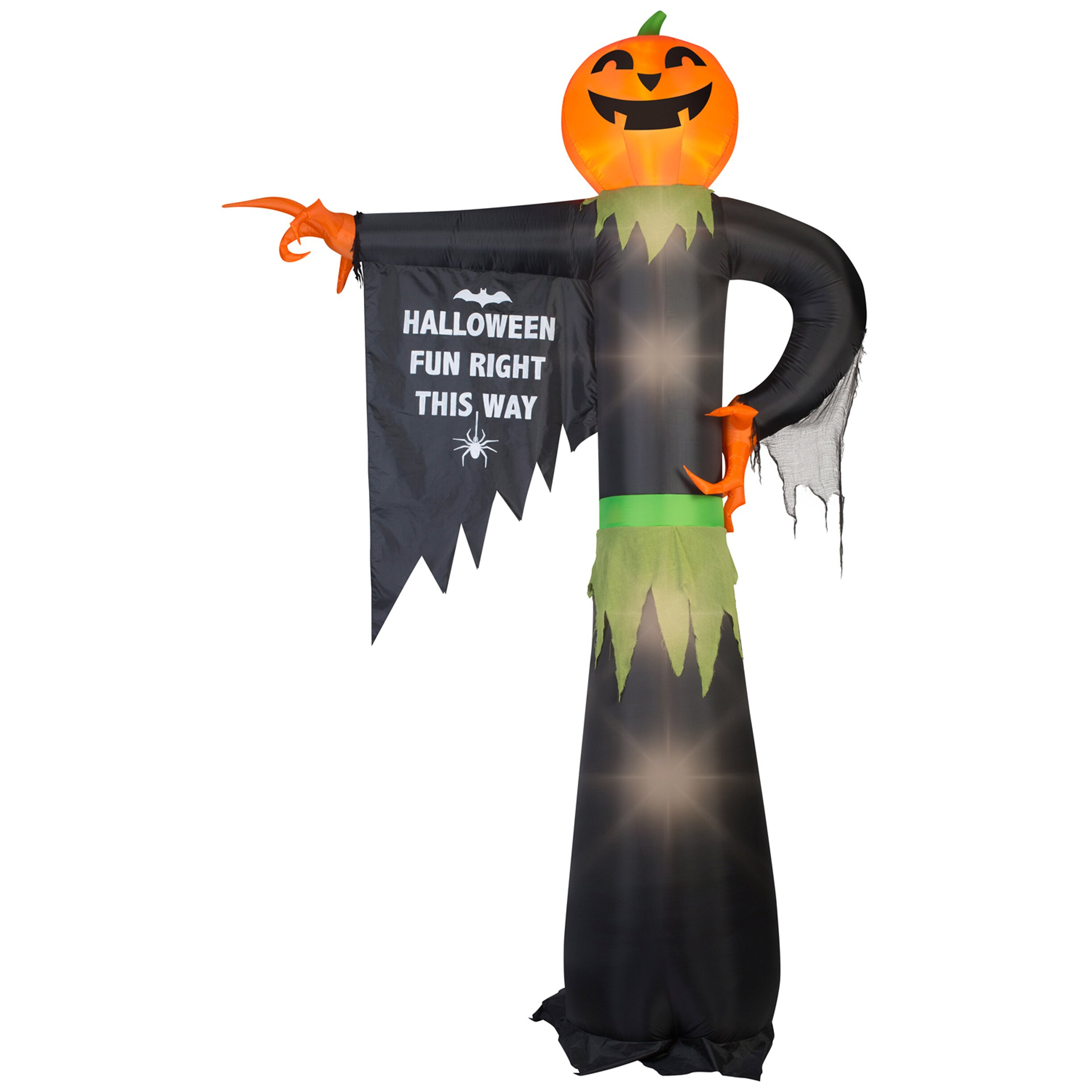 Gemmy Industries Airblown Inflatables Pointing Pumpkin