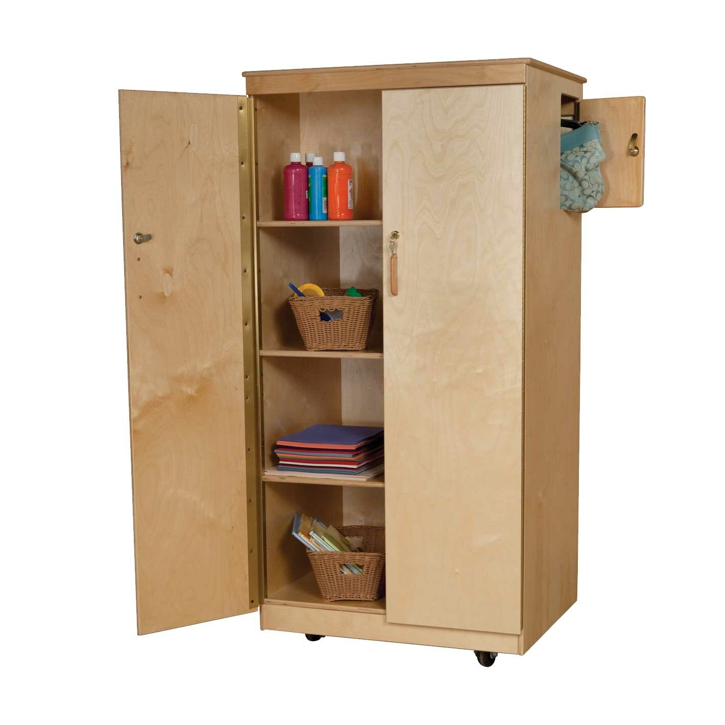 Classroom Cabinet Design : Wood designs teacher s locking cabinet reviews wayfair