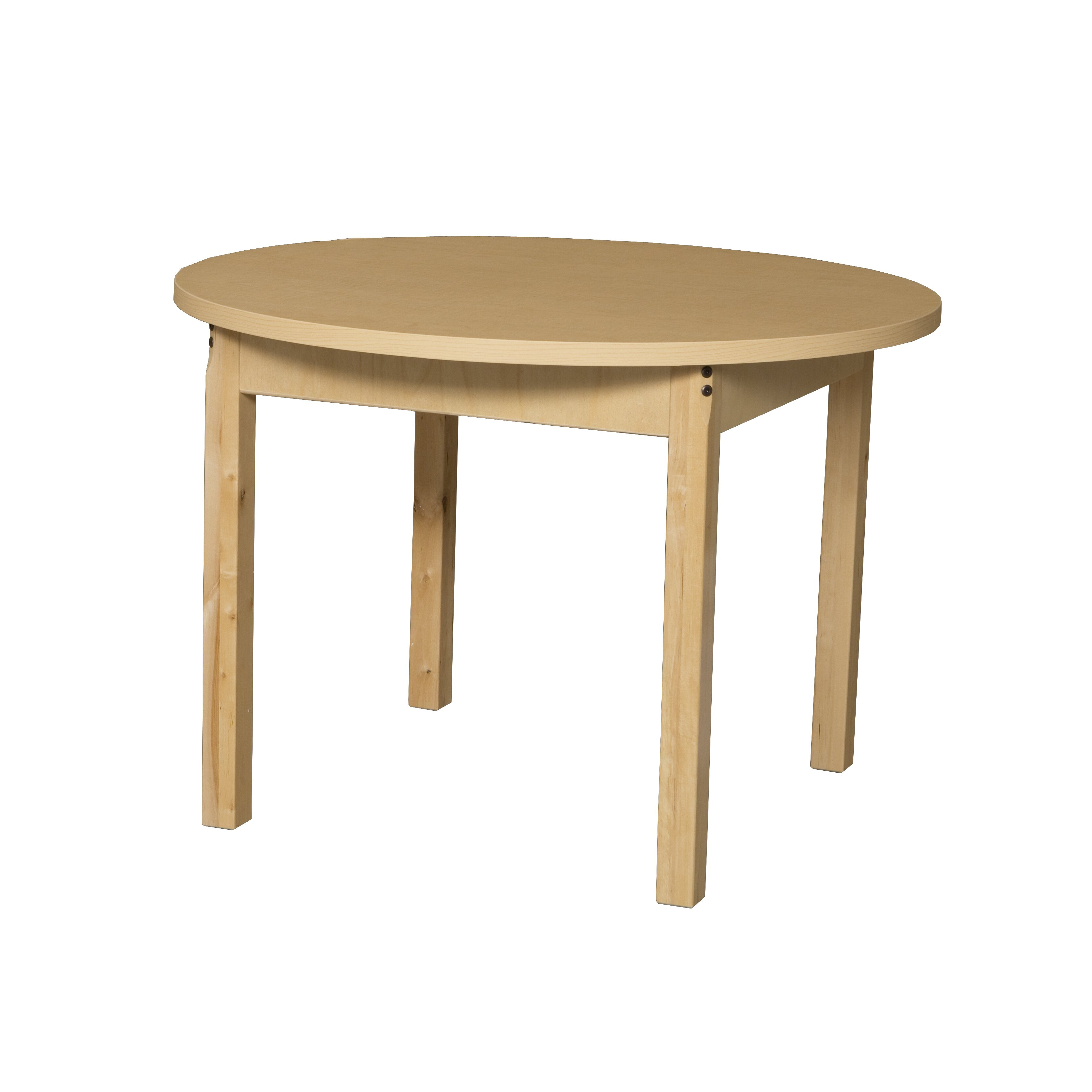 Wood designs round high pressure laminate table wayfair for High top table designs