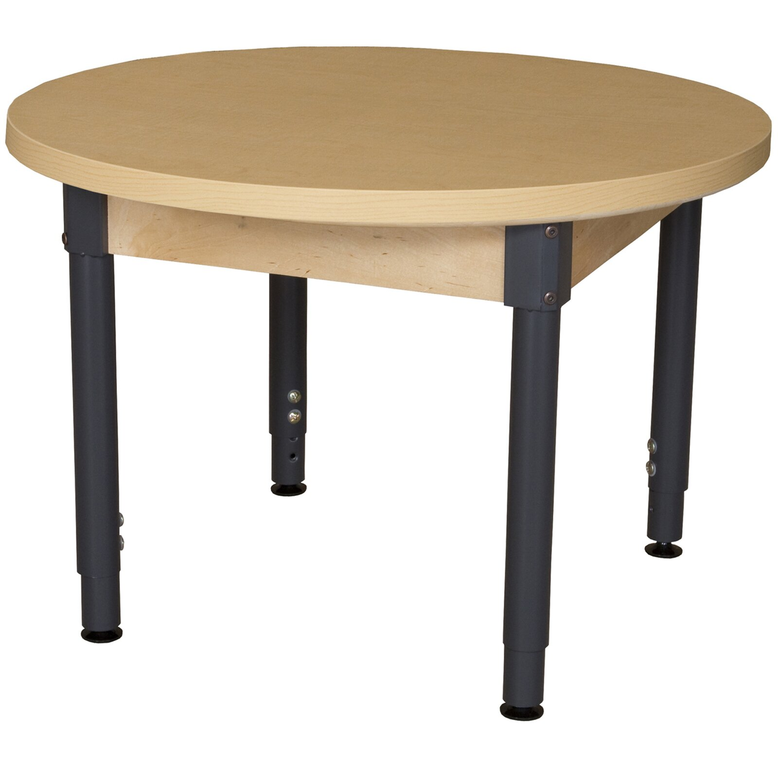wood designs round high pressure laminate table. Black Bedroom Furniture Sets. Home Design Ideas