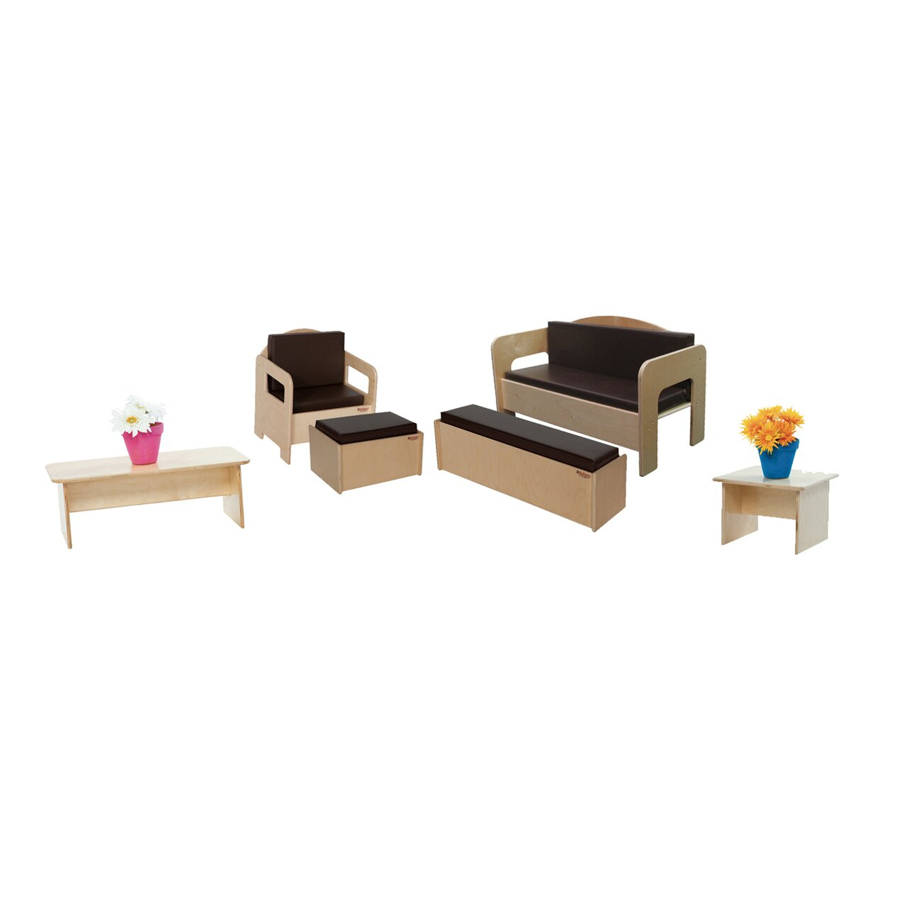 Wood Designs 6 Piece Children's Furniture Set Wayfair Supply. Full resolution‎  photo, nominally Width 1280 Height 1280 pixels, photo with #115F91.