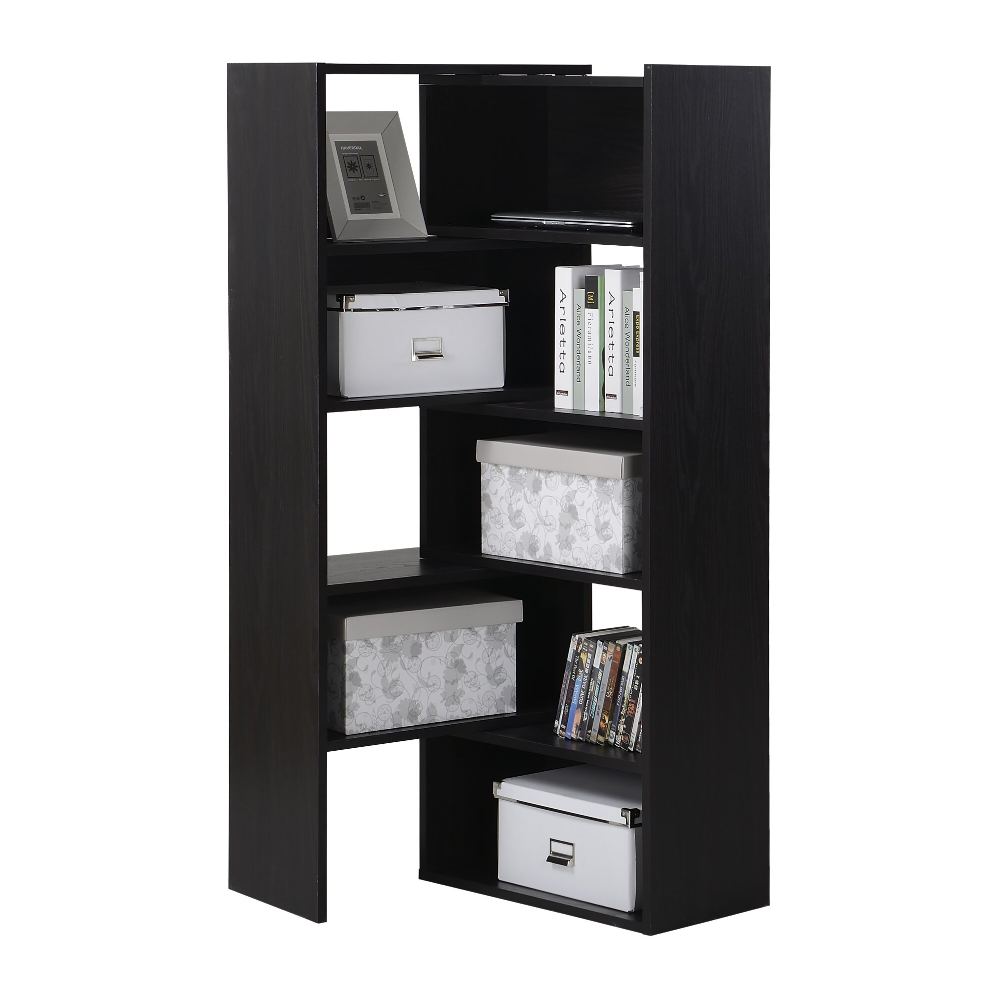 homestar 59 cube unit bookcase reviews wayfair. Black Bedroom Furniture Sets. Home Design Ideas