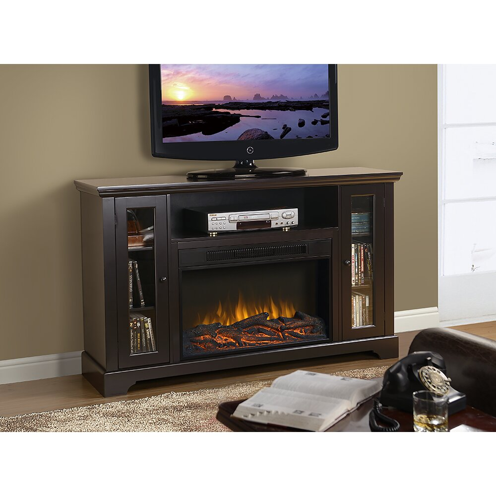 Homestar Kingwood Tv Stand With Electric Fireplace Reviews Wayfair