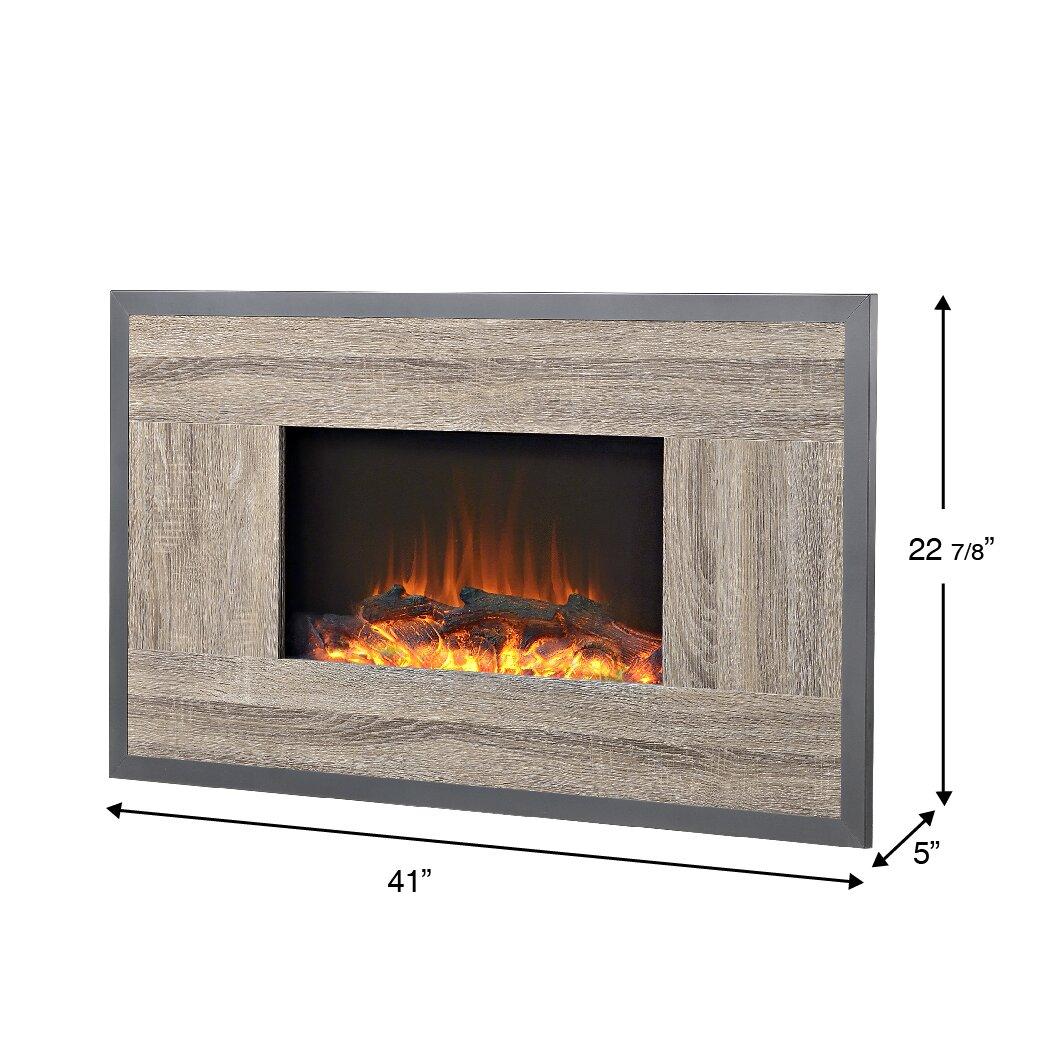 Homestar Oland Wall Mount Electric Fireplace Reviews Wayfair