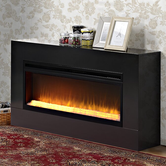 Contemporary Free Standing Electric Fires: Homestar Mantova Freestanding Electric Fireplace & Reviews