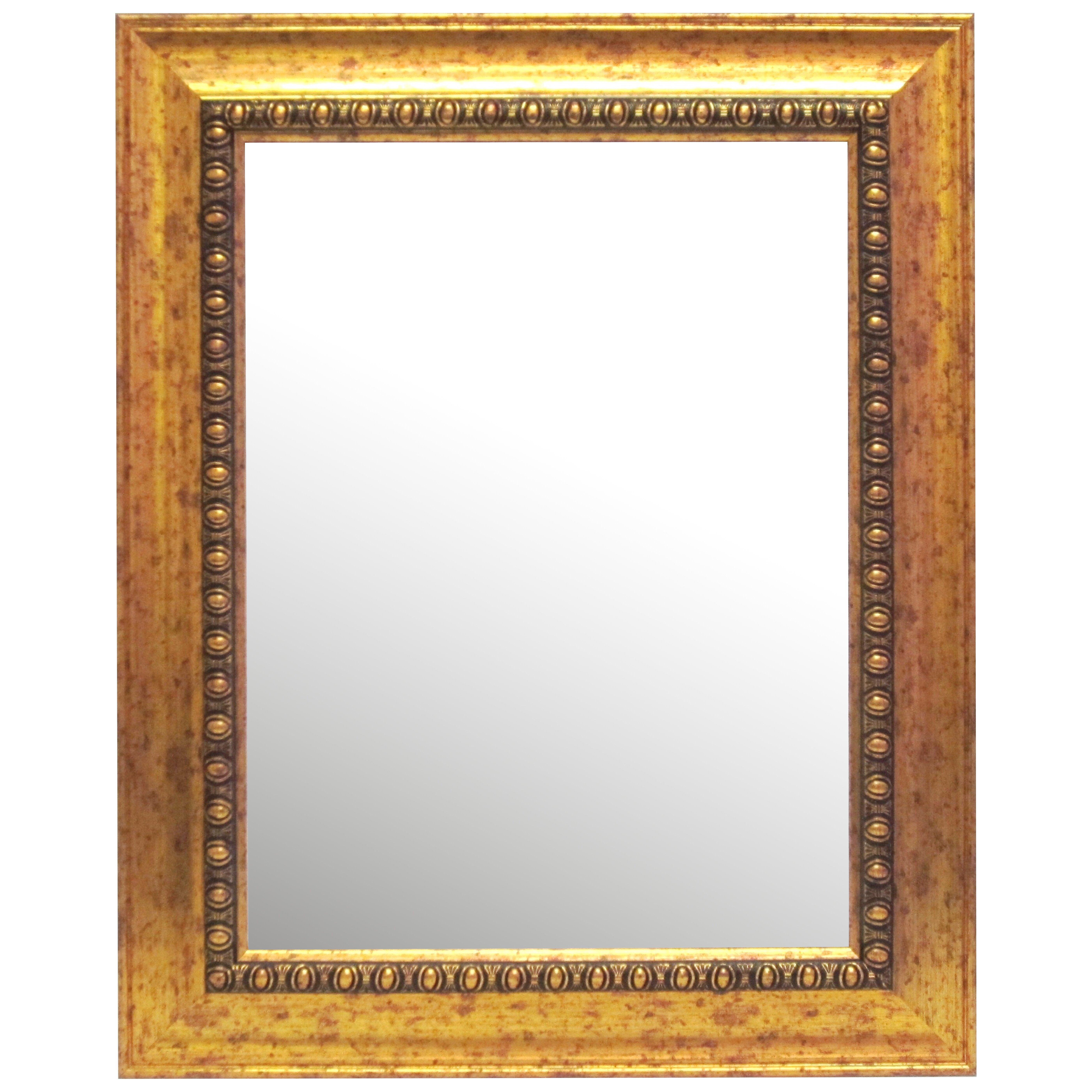 Alpine art and mirror beveled glass gold framed wall for Gold wall mirror