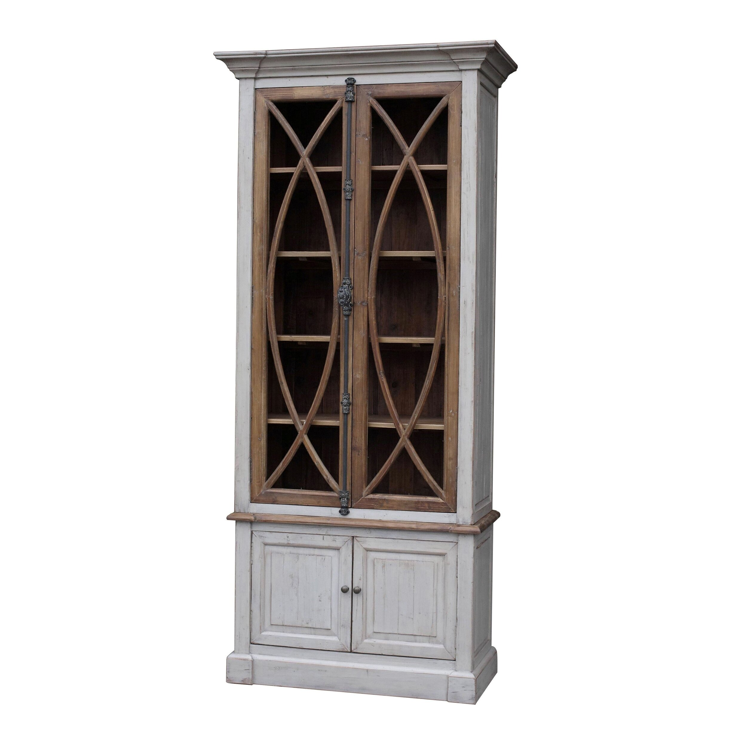 Superb img of White x White Garrity Vitrine China Cabinet & Reviews Wayfair with #785E4A color and 2477x2477 pixels