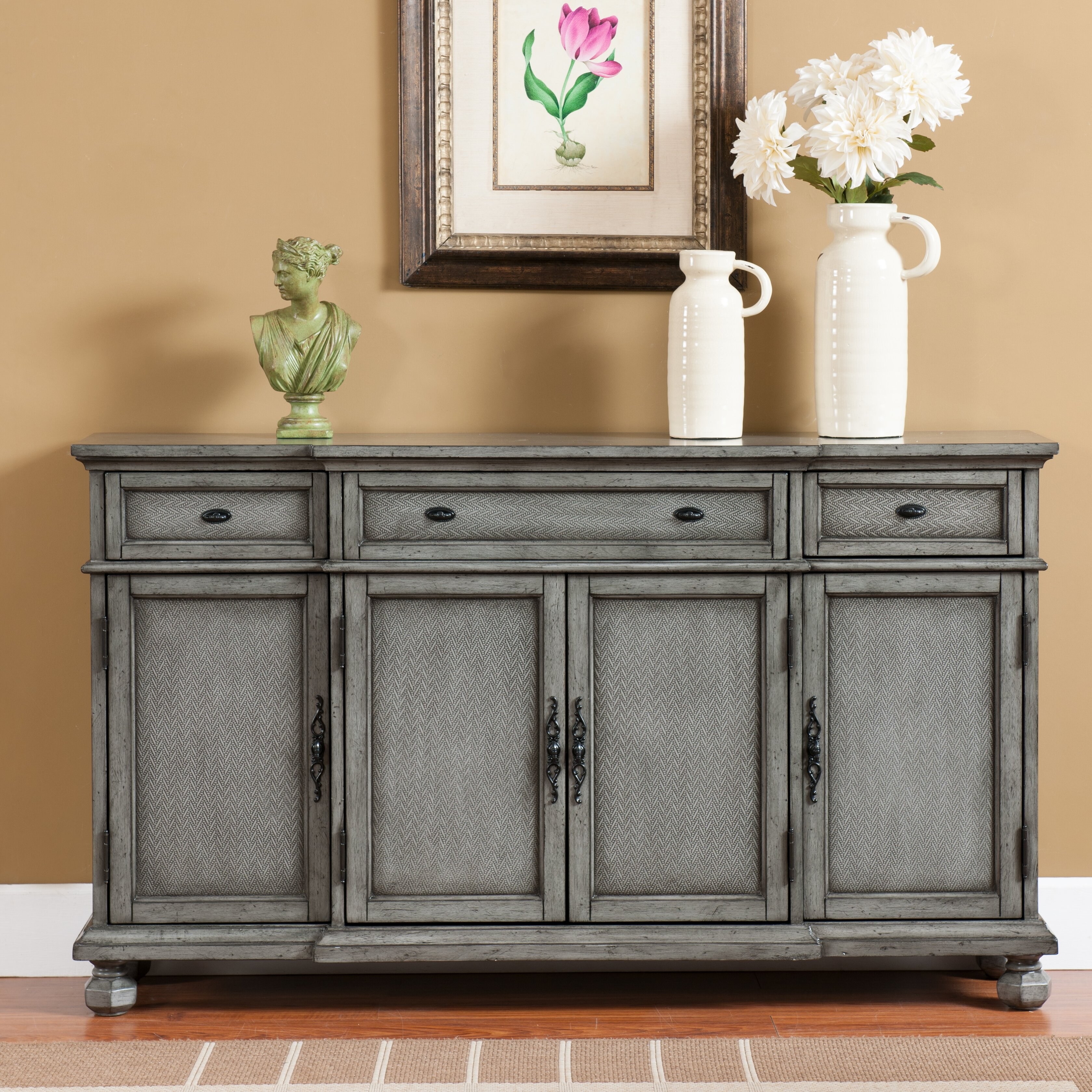 Coast To Coast Imports 3 Drawer Credenza Amp Reviews Wayfair
