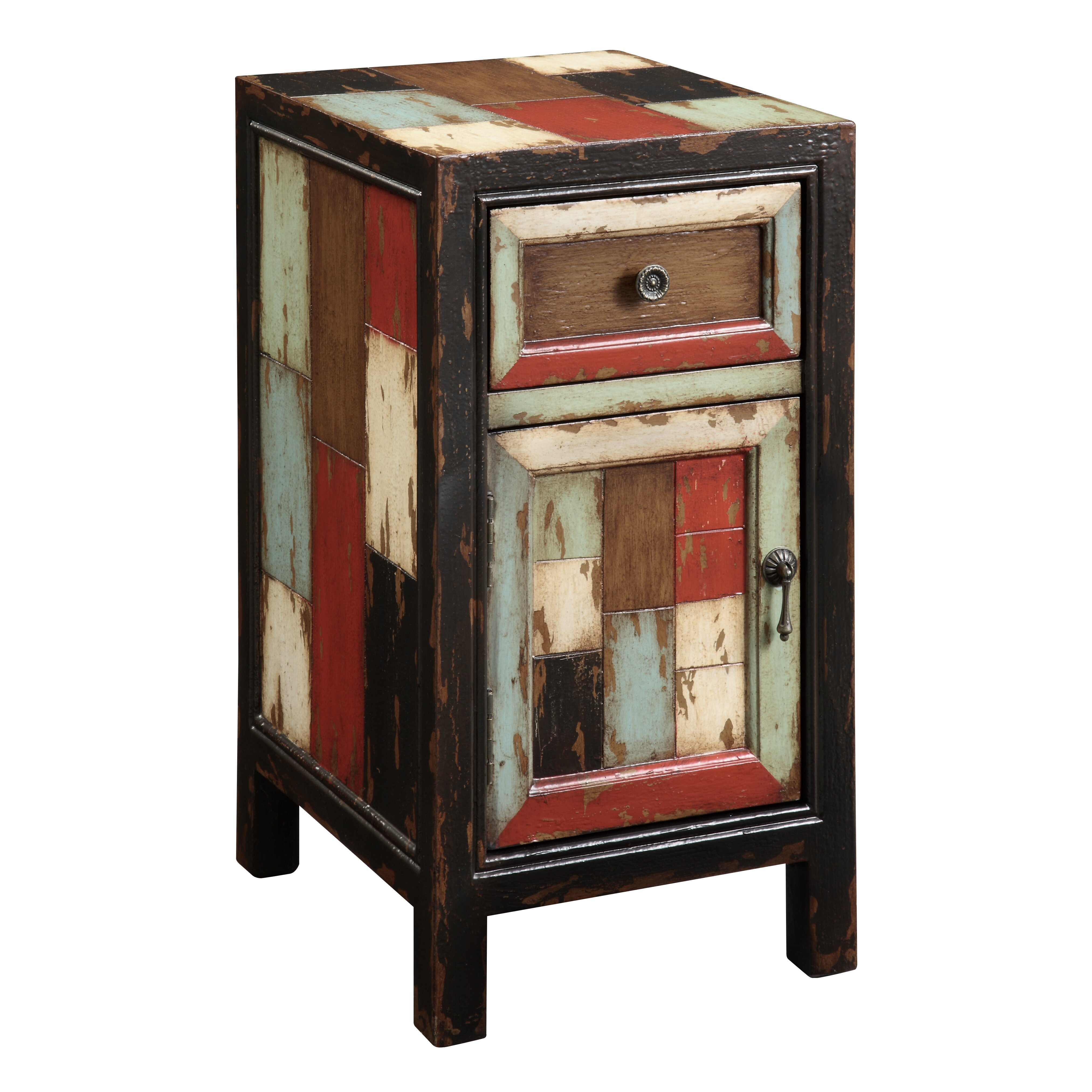 Coast to coast imports rustic 1 drawer end table reviews for 1 door cabinet