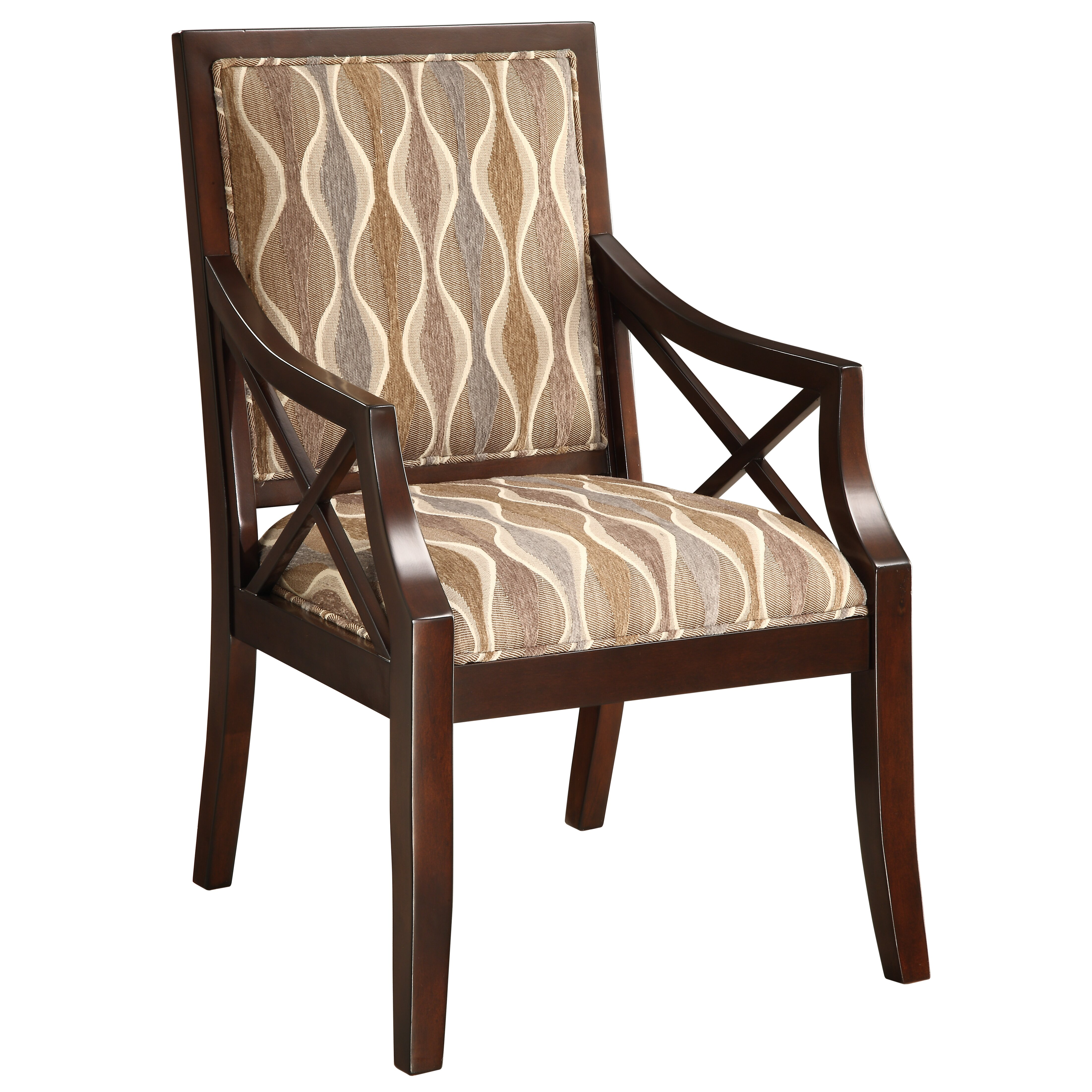 Coastal Accent Chair Beige Fabric Arms: Coast To Coast Imports Fabric Arm Chair In Espresso