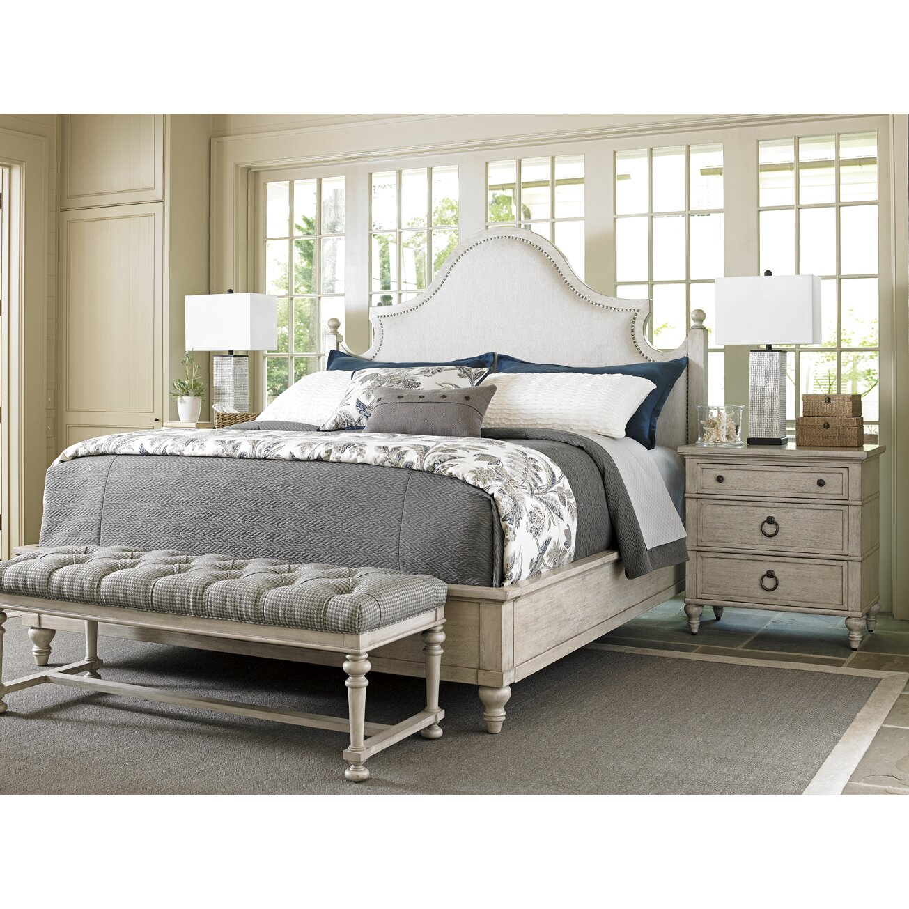 Lexington oyster bay upholstery platform customizable for Lexington bedroom furniture