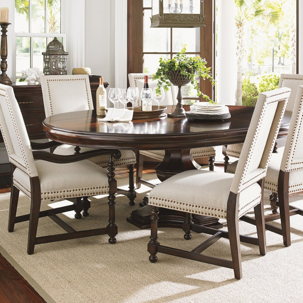 Lexington kilimanjaro extendable dining table set wayfair for Extendable dining set