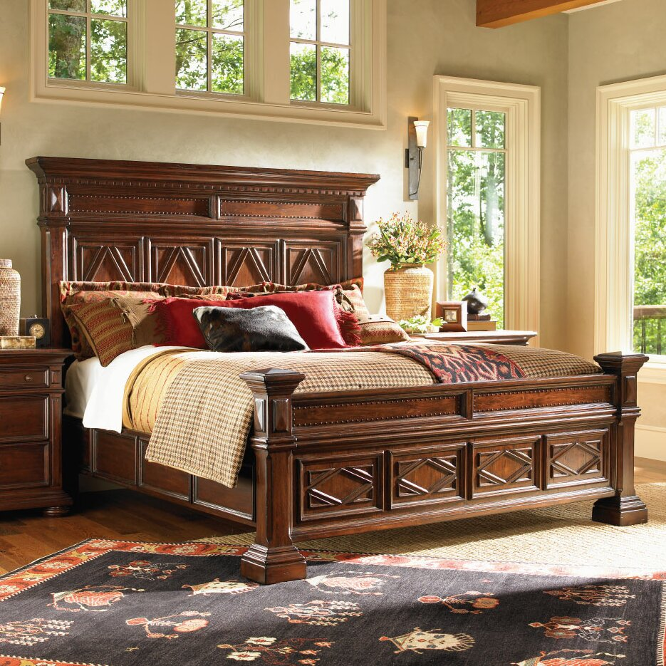 lexington fieldale lodge panel customizable bedroom set