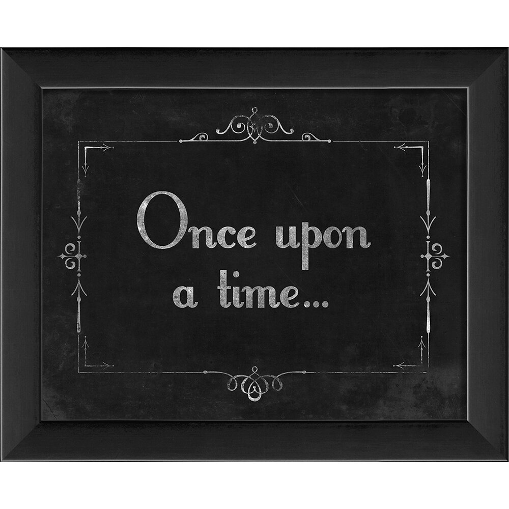 The Artwork Factory Silent Movie Once Upon A Time Framed Textual Art amp Reviews Wayfair